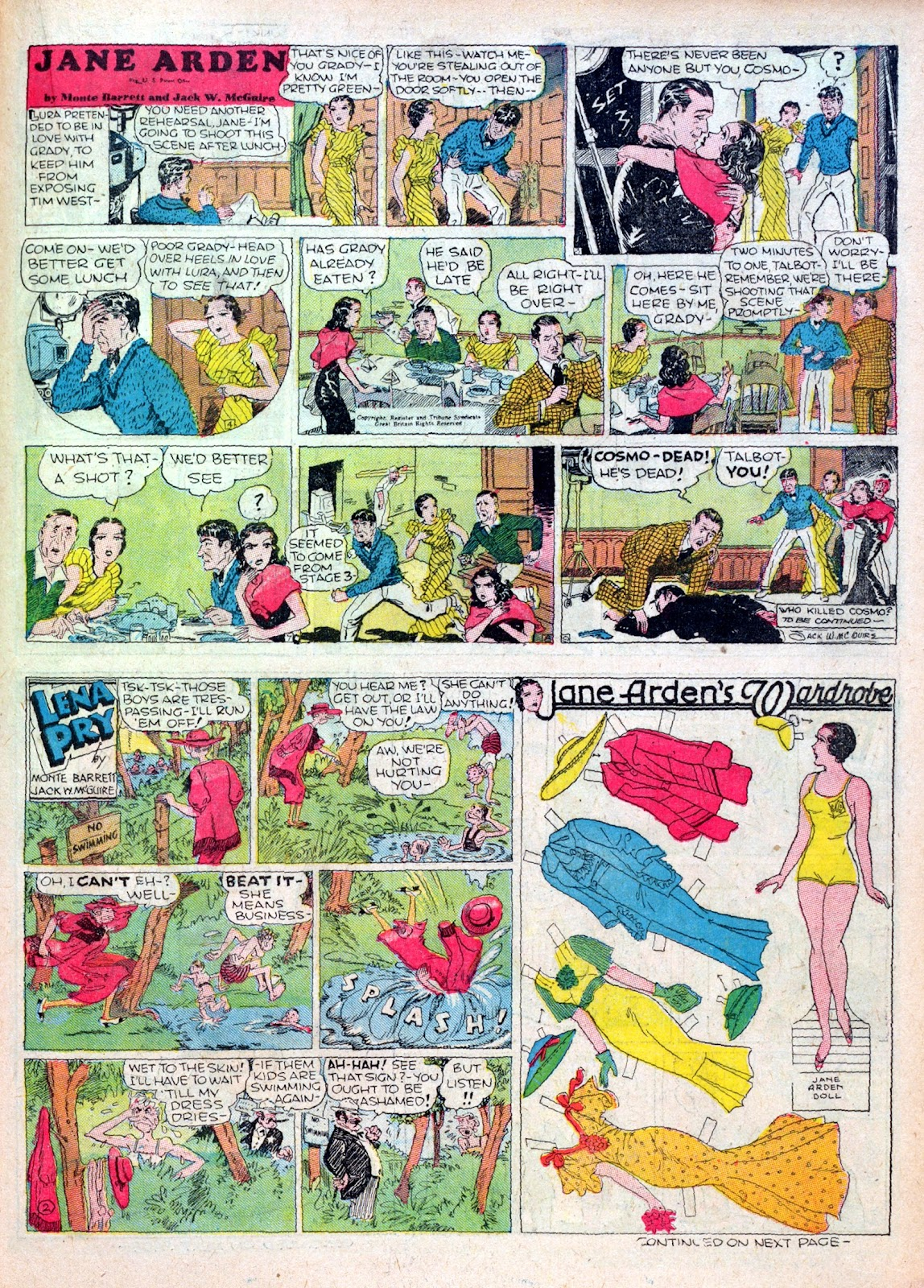 Read online Famous Funnies comic -  Issue #16 - 45