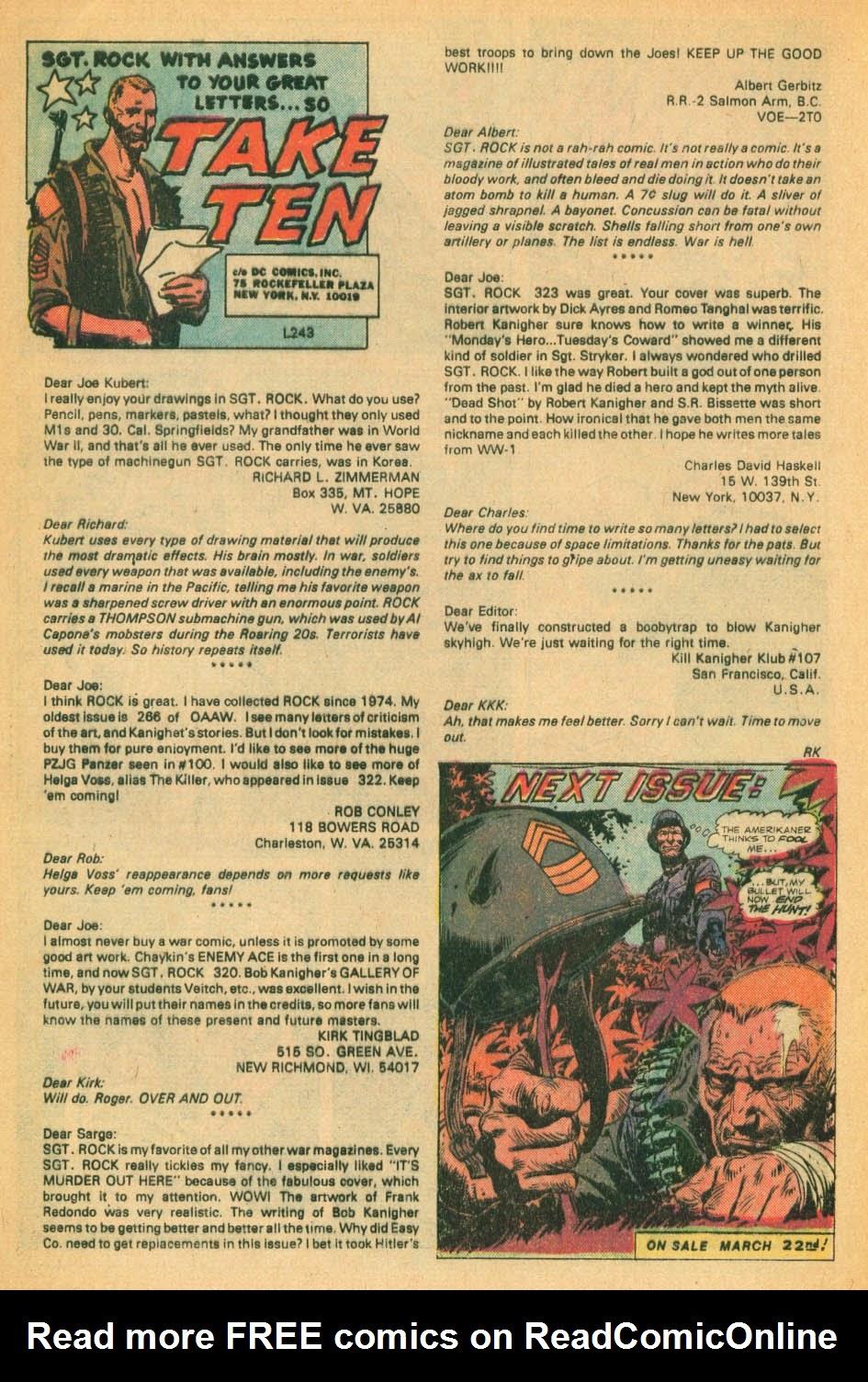 Read online Sgt. Rock comic -  Issue #328 - 17