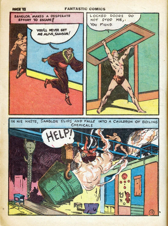 Read online Fantastic Comics comic -  Issue #7 - 14