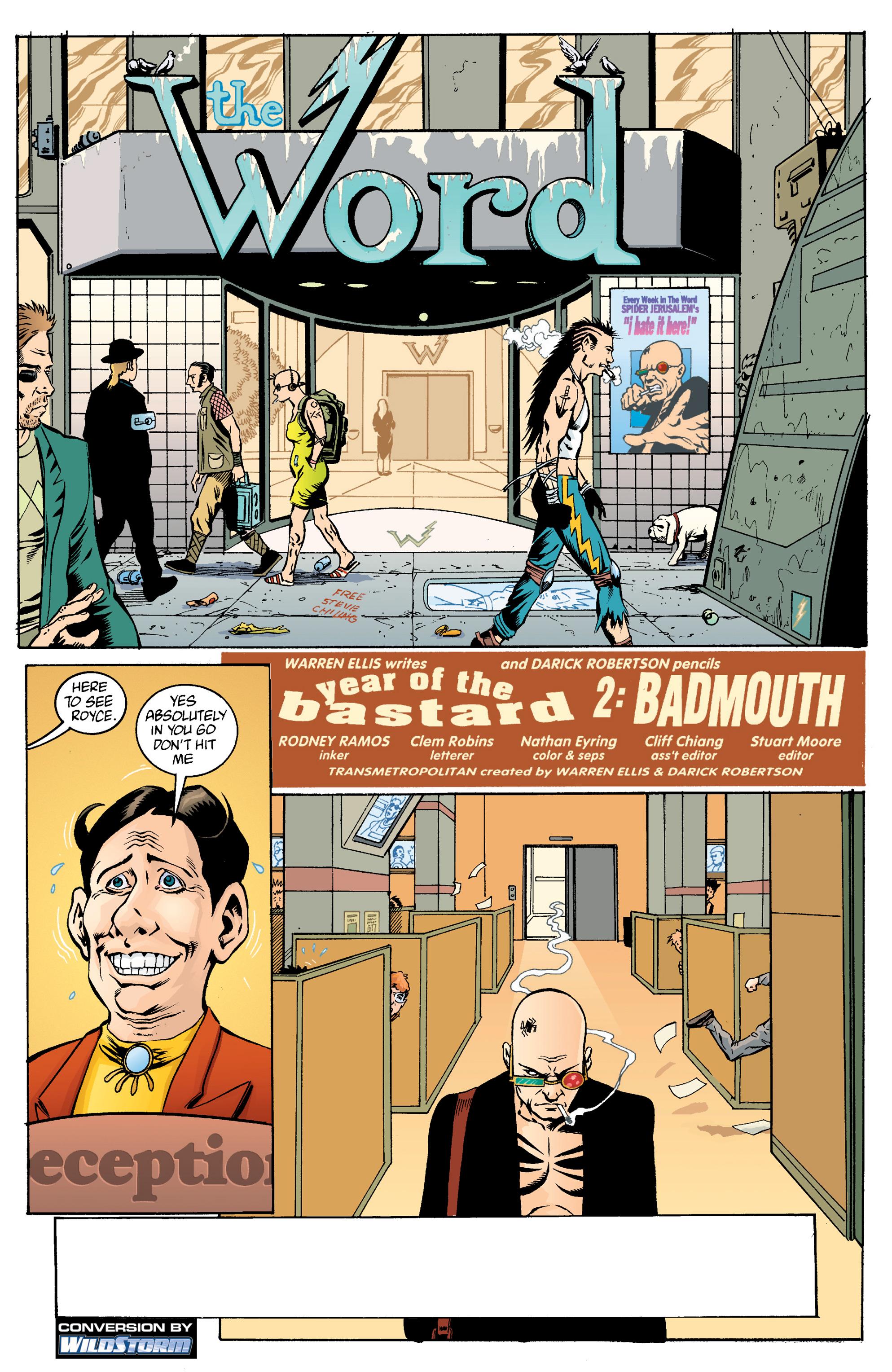 Read online Transmetropolitan comic -  Issue #14 - 2