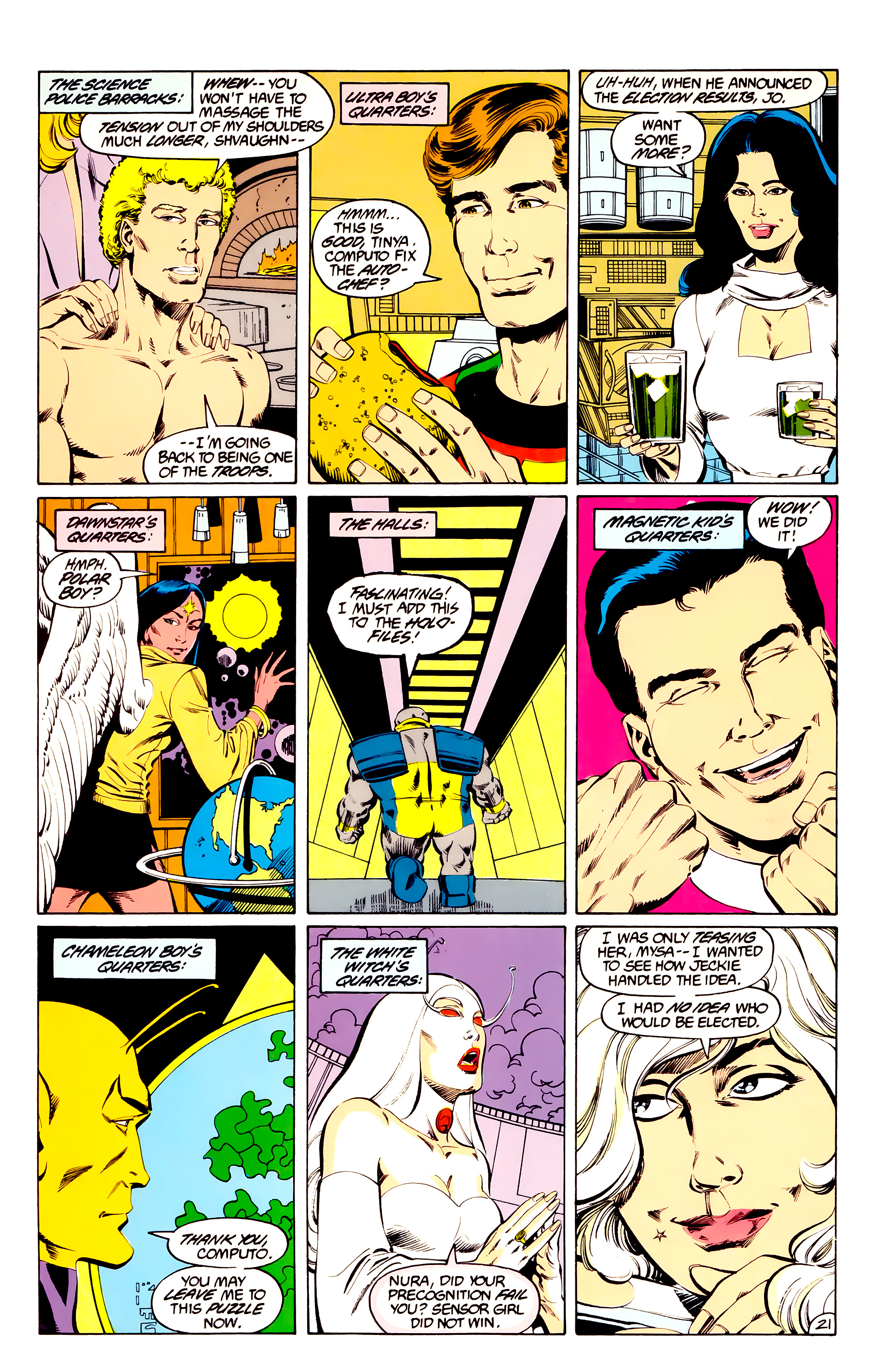 Legion of Super-Heroes (1984) 36 Page 21