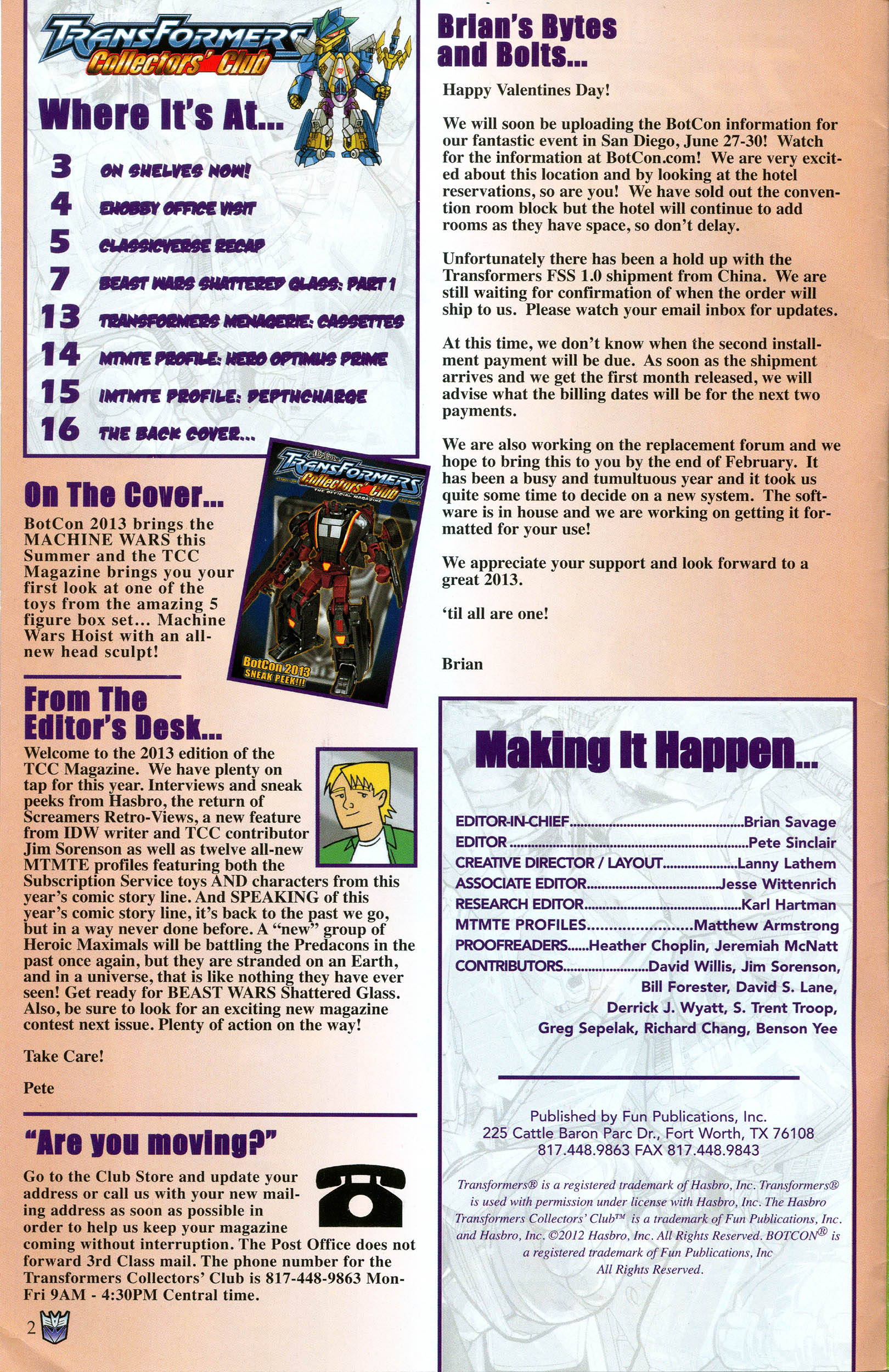 Read online Transformers: Collectors' Club comic -  Issue #49 - 2