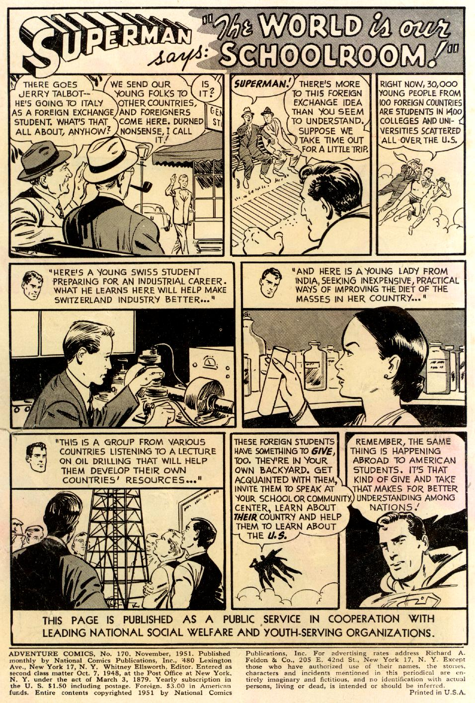 Read online Adventure Comics (1938) comic -  Issue #170 - 2