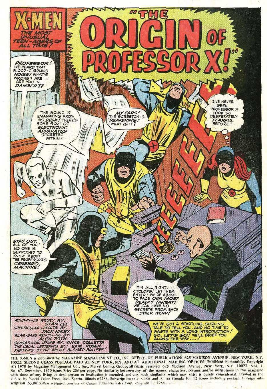 Read online Uncanny X-Men (1963) comic -  Issue #67 - 3