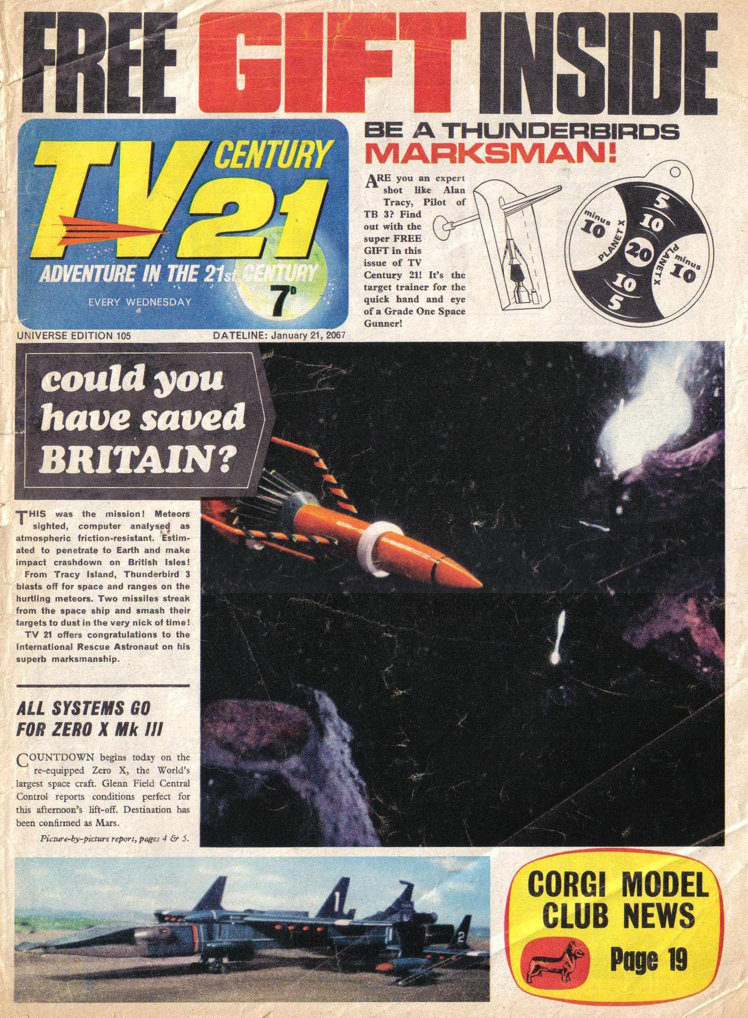 Read online TV Century 21 (TV 21) comic -  Issue #105 - 1