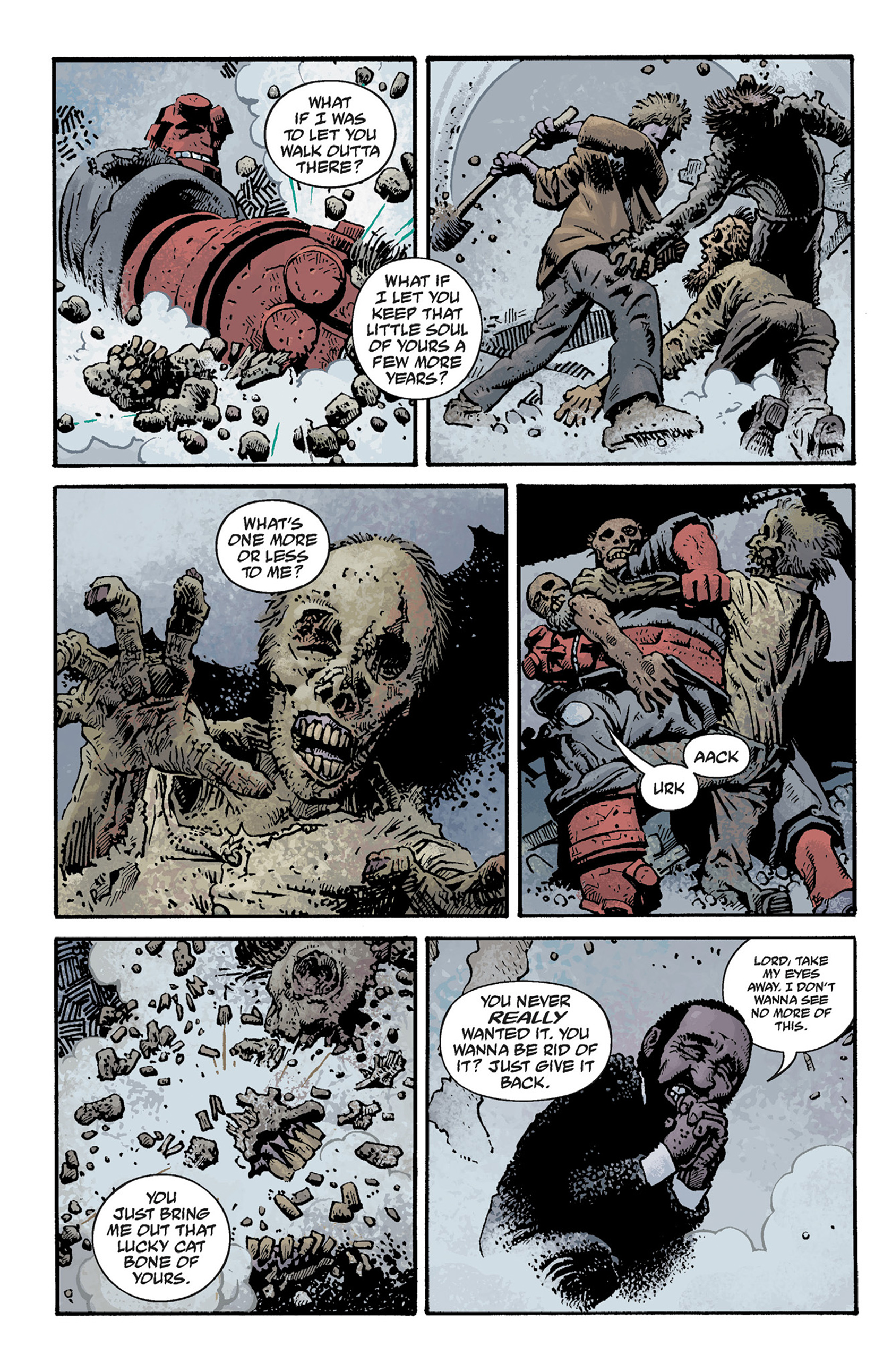 Read online Hellboy: The Crooked Man and Others comic -  Issue # TPB - 68