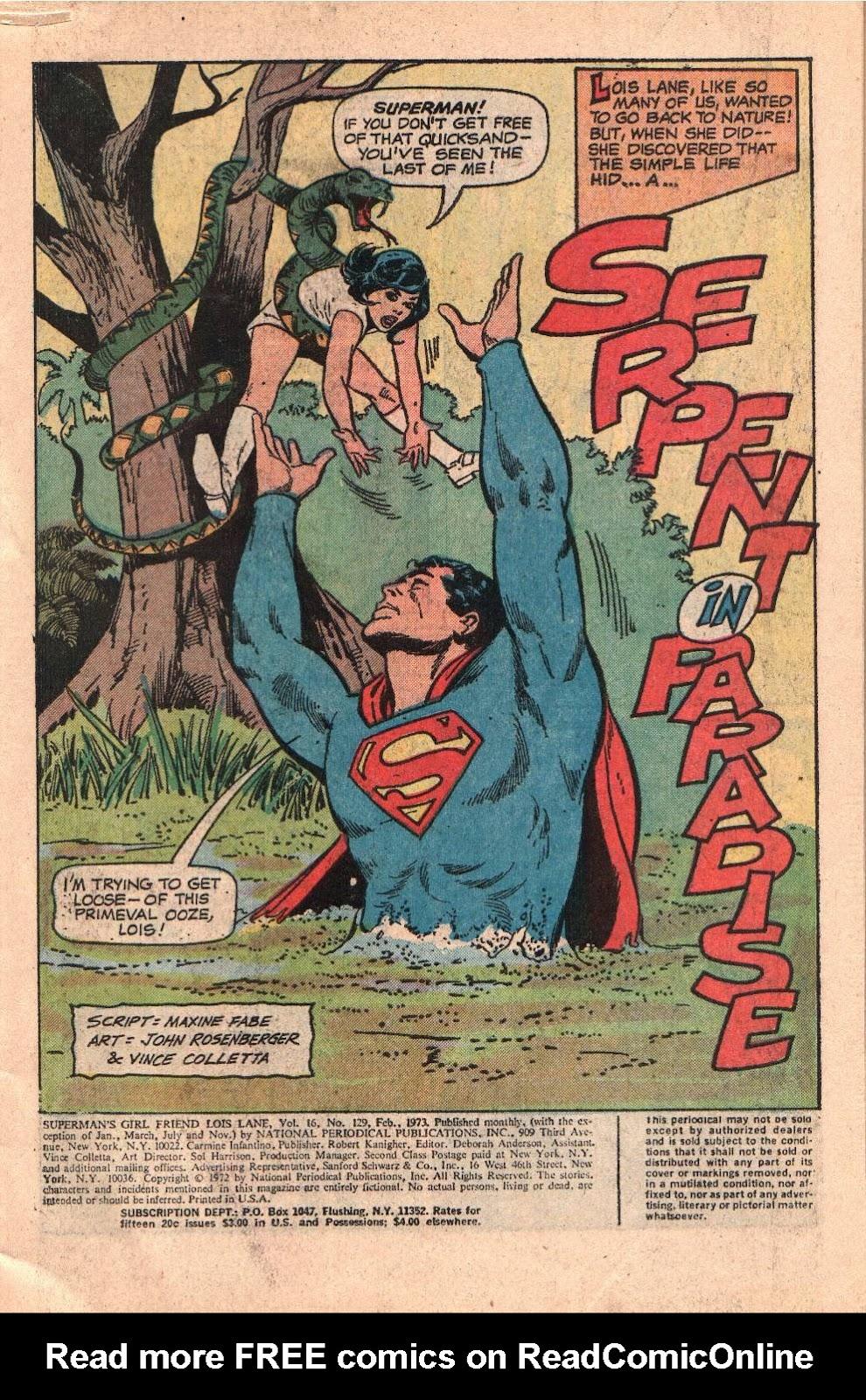 Supermans Girl Friend, Lois Lane 129 Page 3