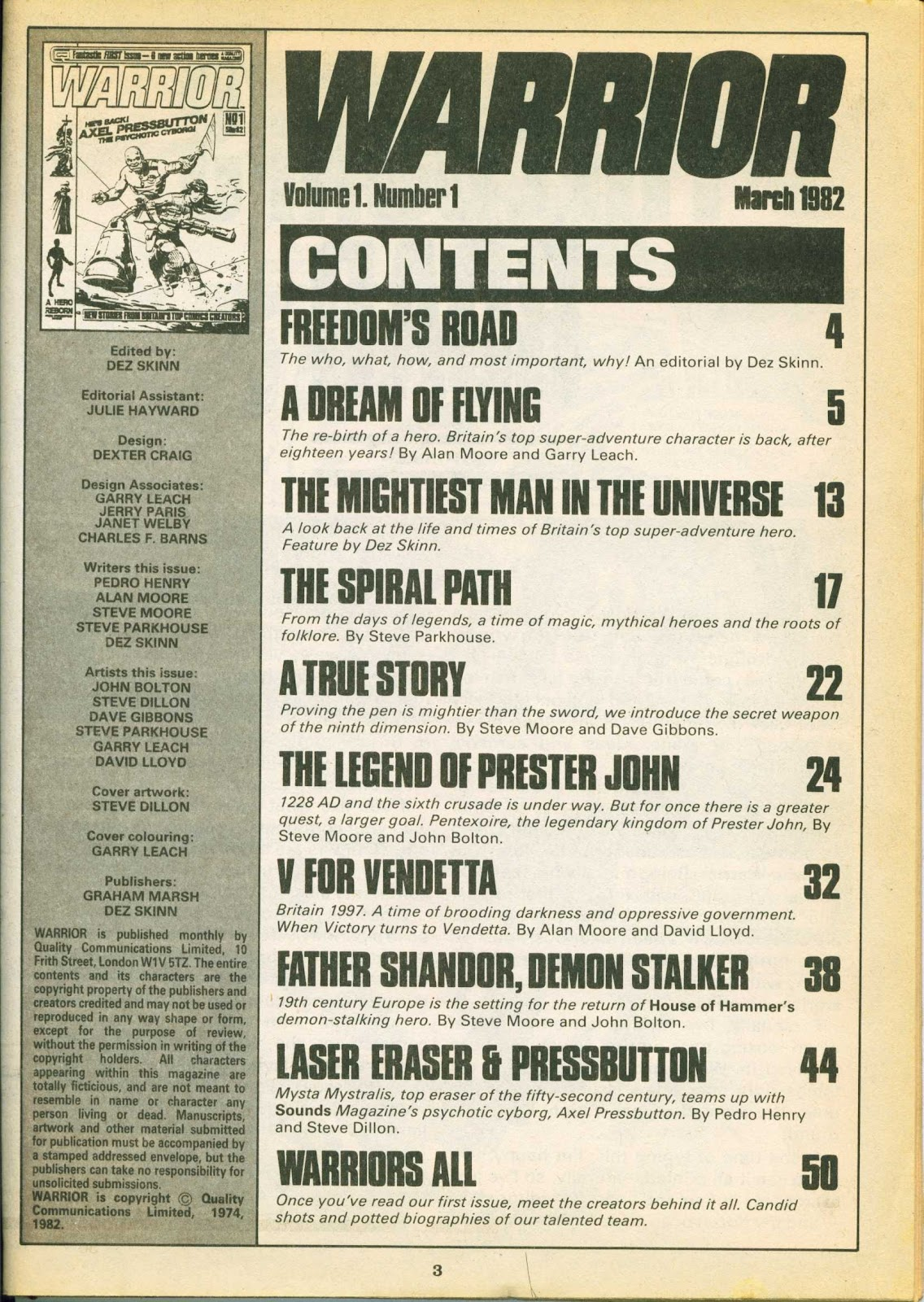 Warrior Issue #1 #2 - English 3