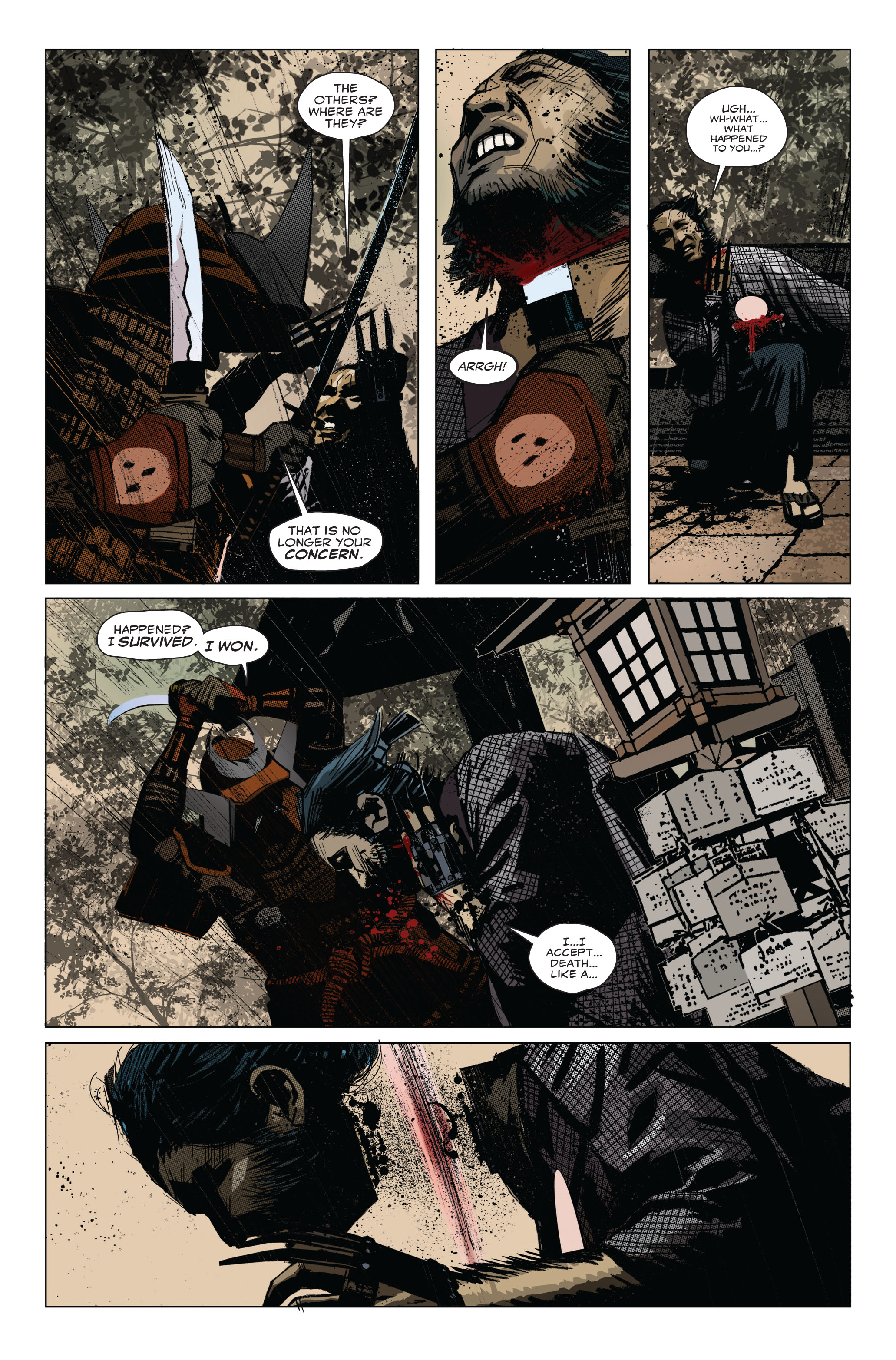 Read online 5 Ronin (2011) comic -  Issue #1 - 8