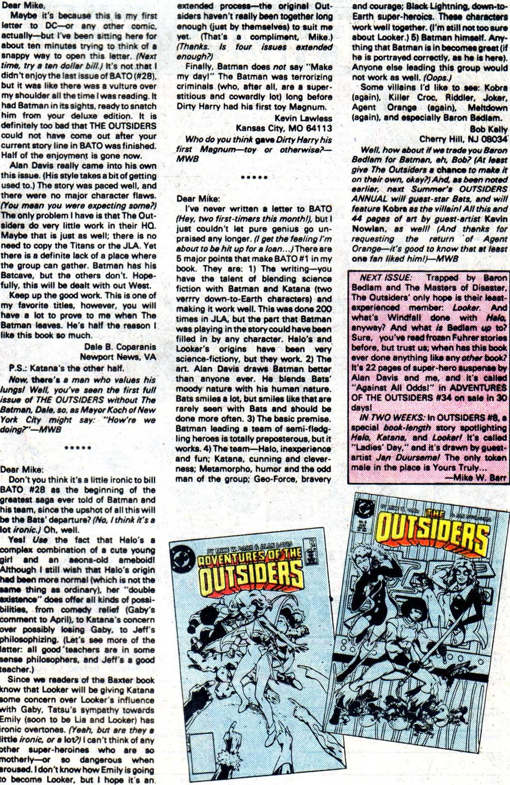 Read online Adventures of the Outsiders comic -  Issue #33 - 26