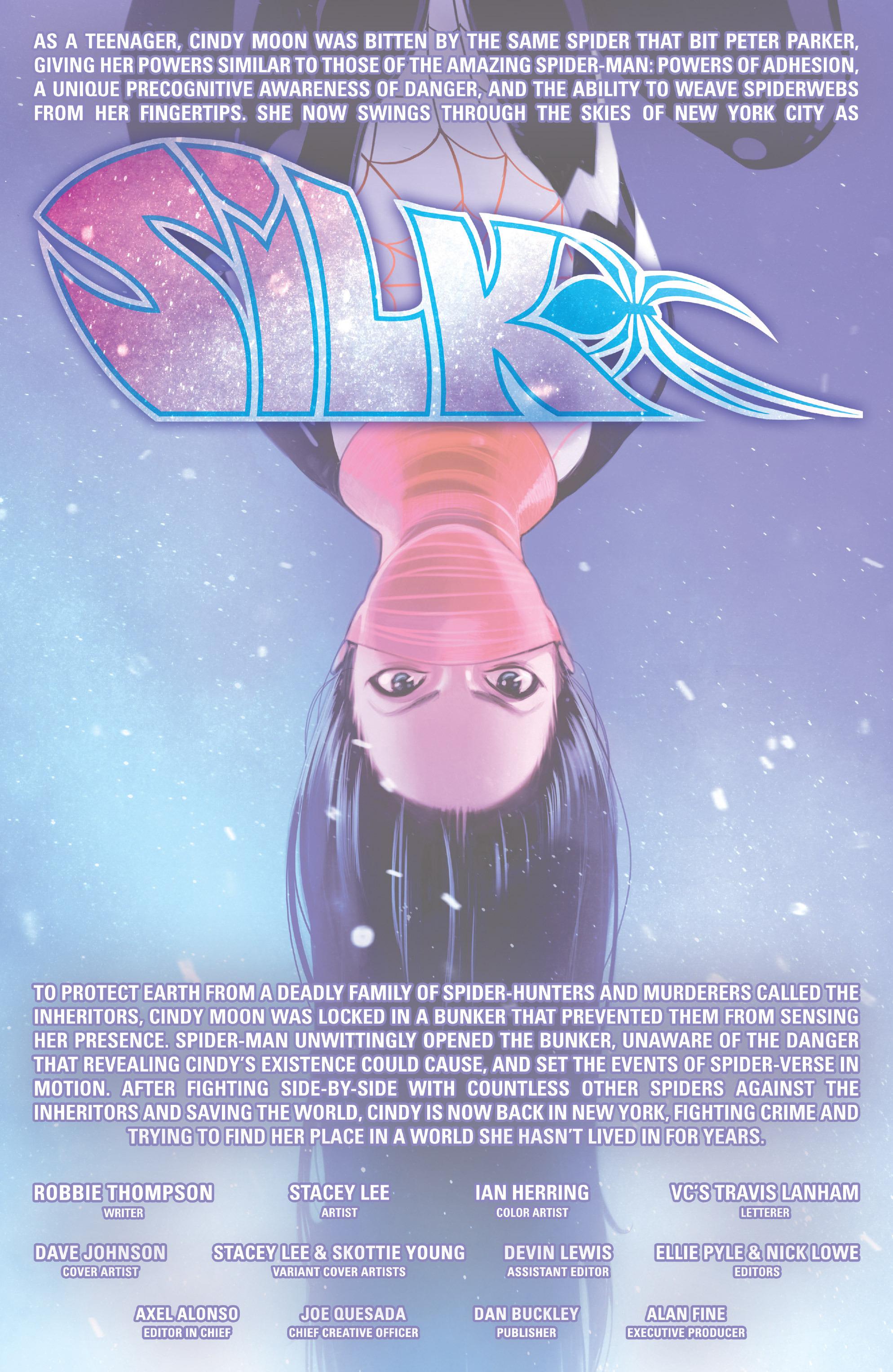 Read online Silk (2015) comic -  Issue #1 - 2