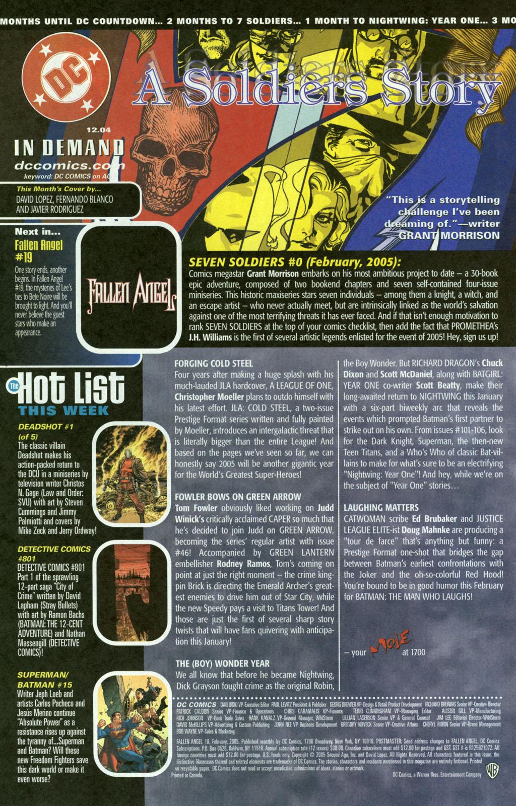 Read online Fallen Angel (2003) comic -  Issue #18 - 24