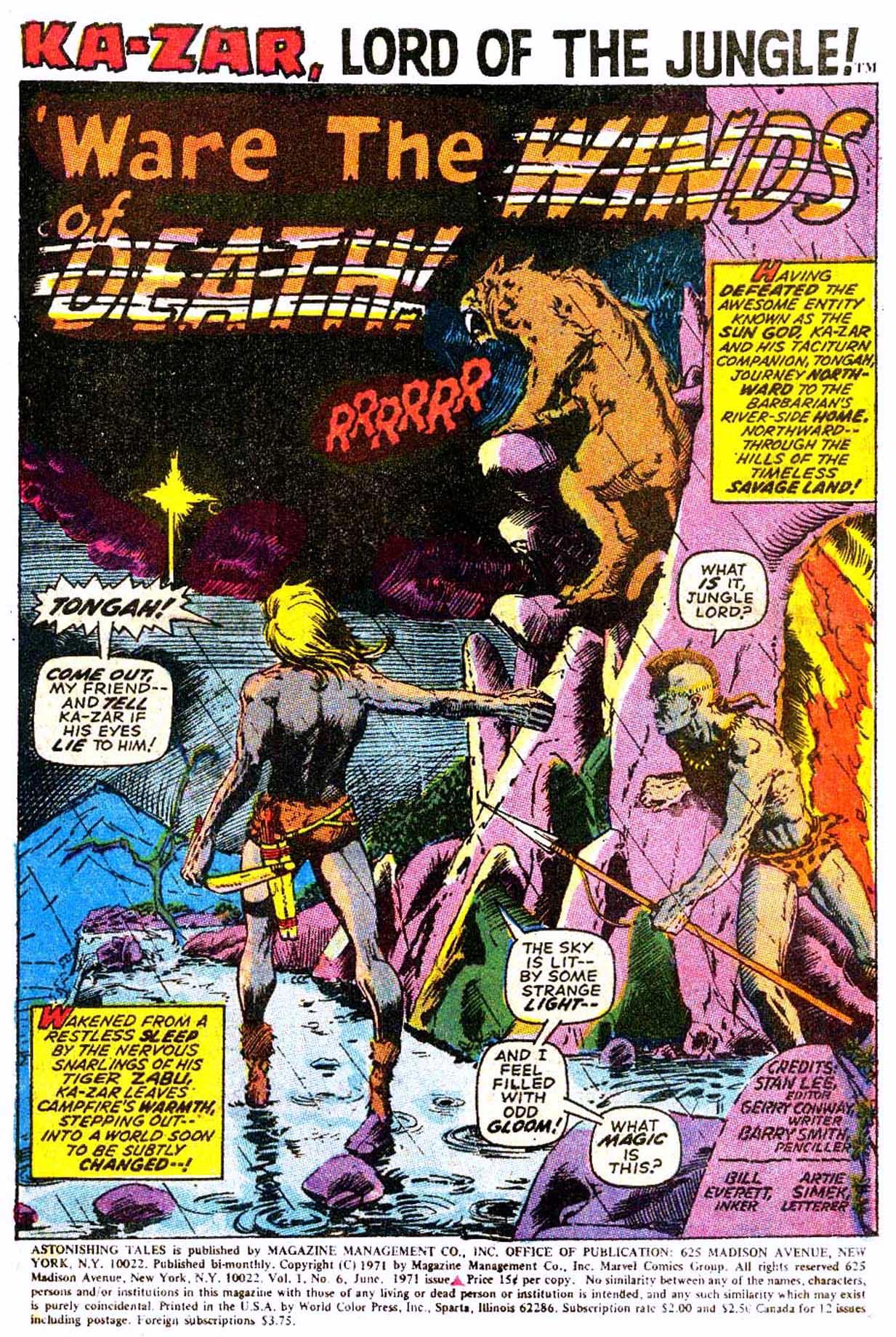 Read online Astonishing Tales (1970) comic -  Issue #6 - 12