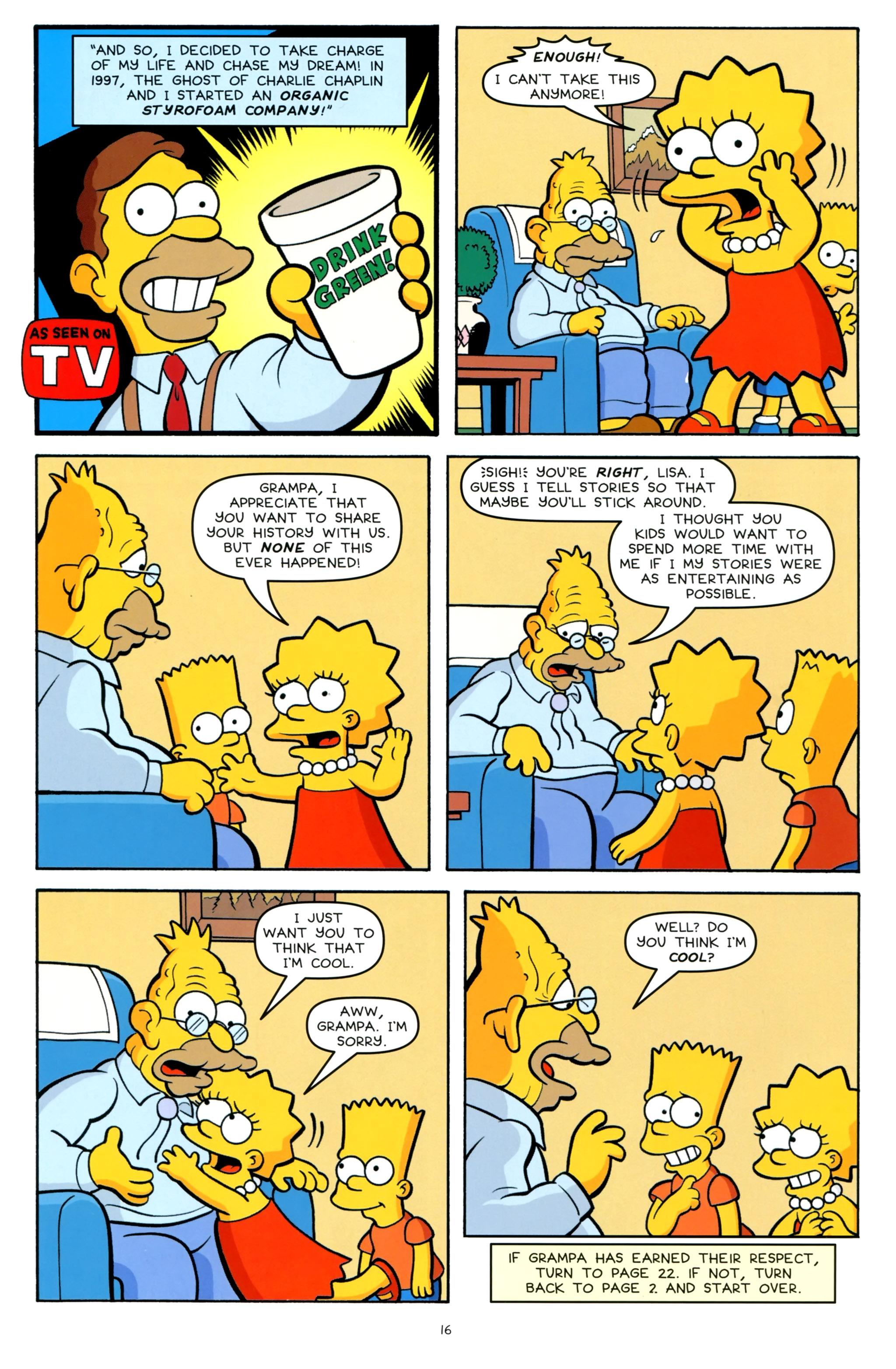 Read online Simpsons One-Shot Wonders: Grampa comic -  Issue # Full - 18