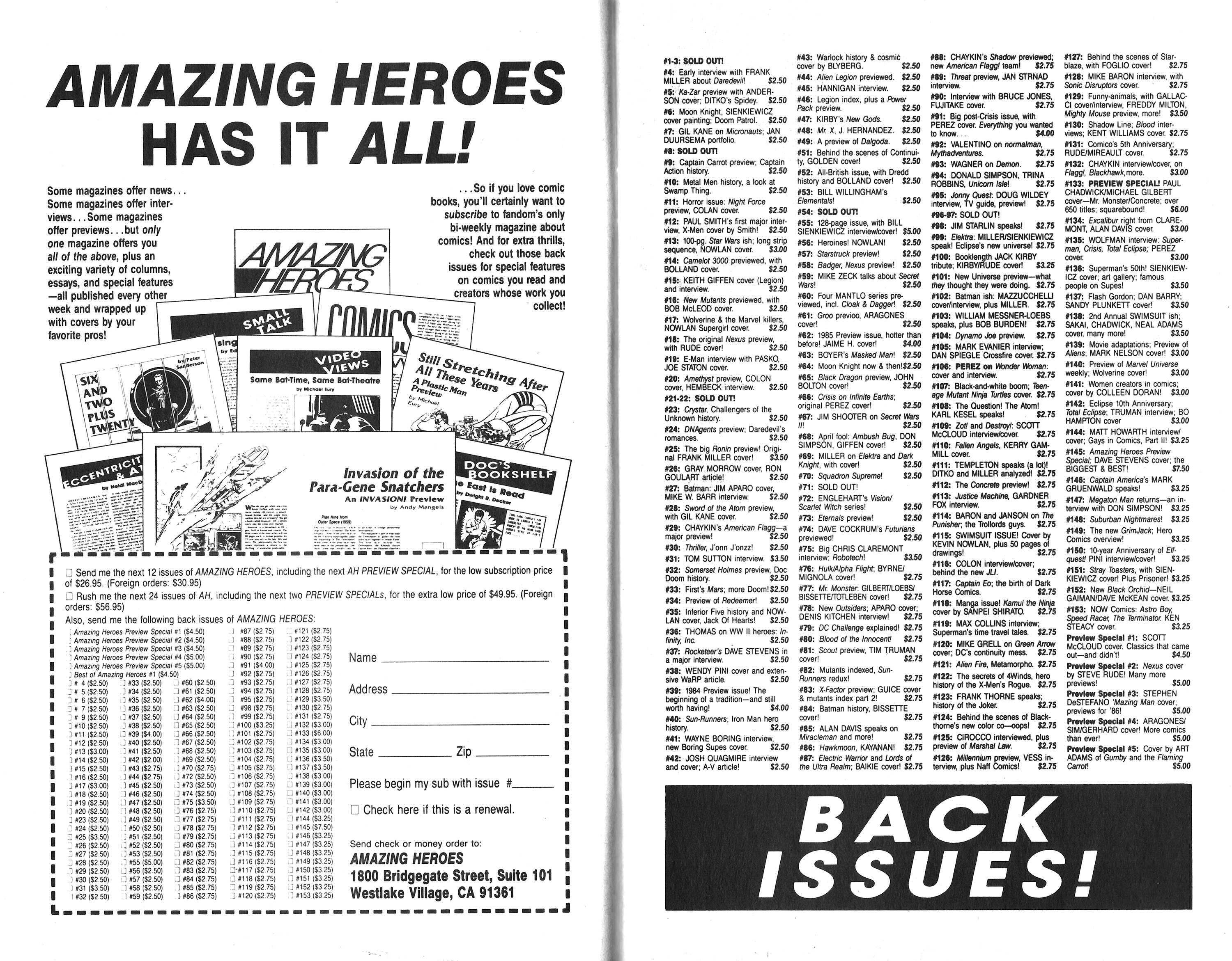 Read online Amazing Heroes comic -  Issue #159 - 11