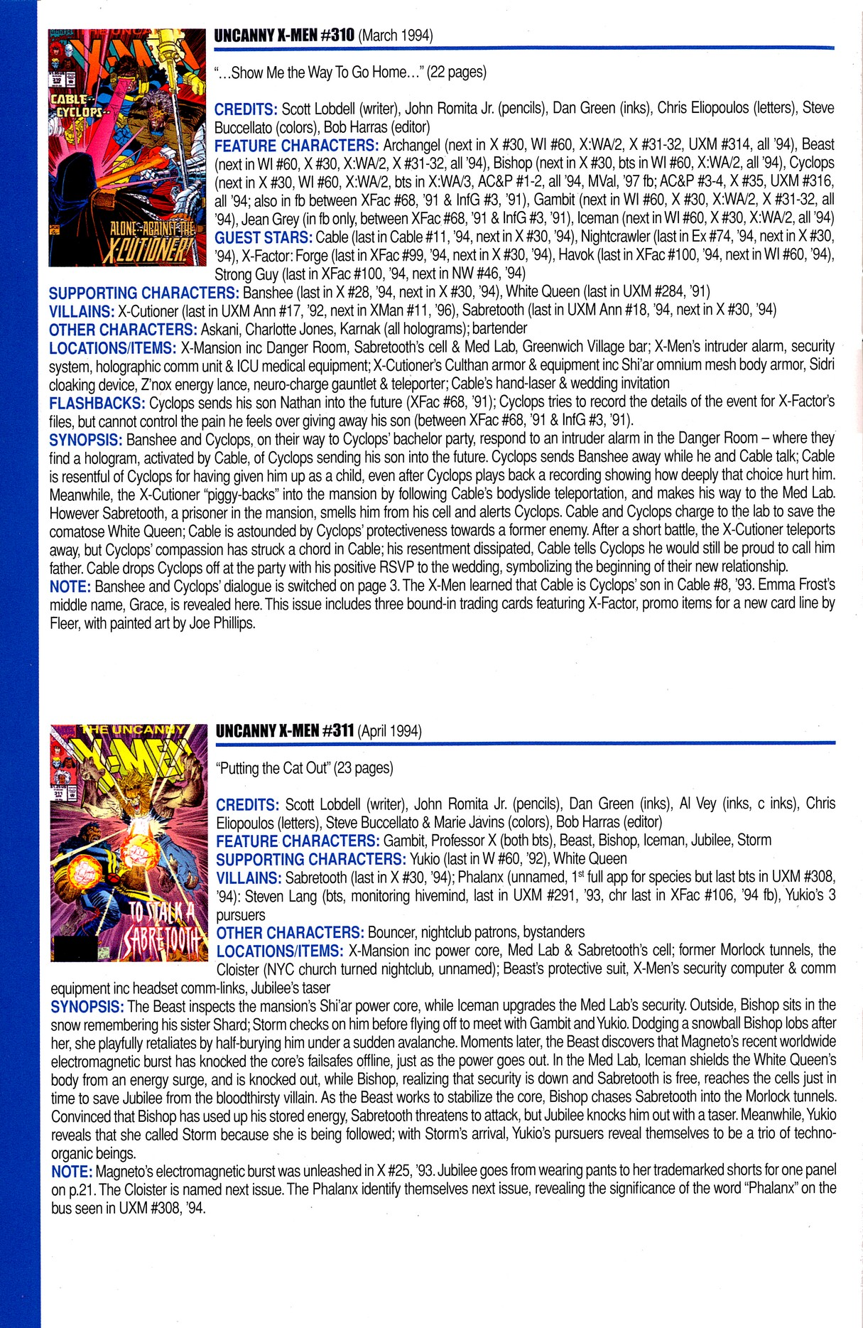 Read online Official Index to the Marvel Universe comic -  Issue #8 - 50