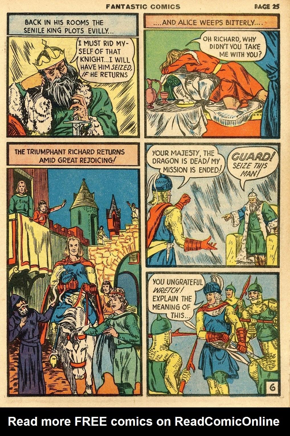 Read online Fantastic Comics comic -  Issue #10 - 26