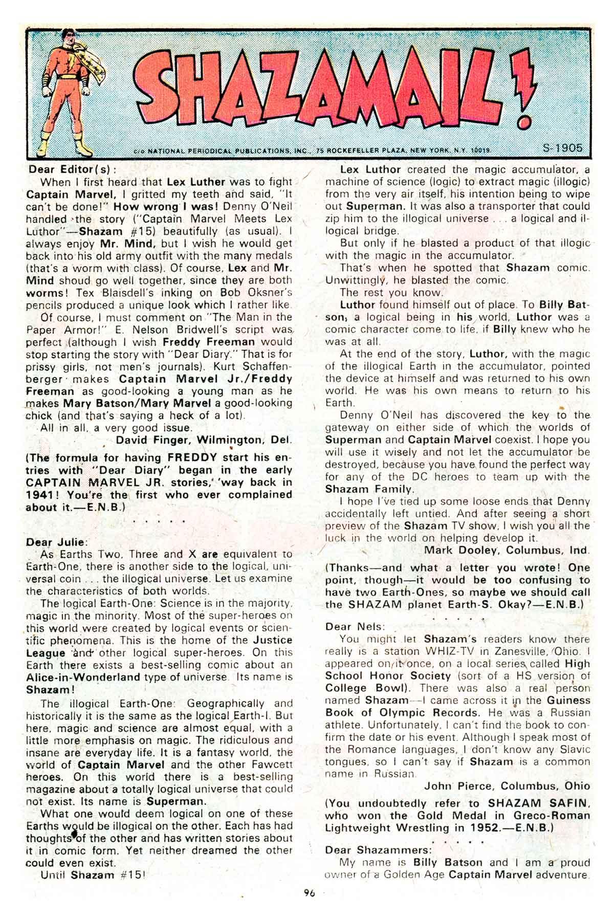 Read online Shazam! (1973) comic -  Issue #17 - 96