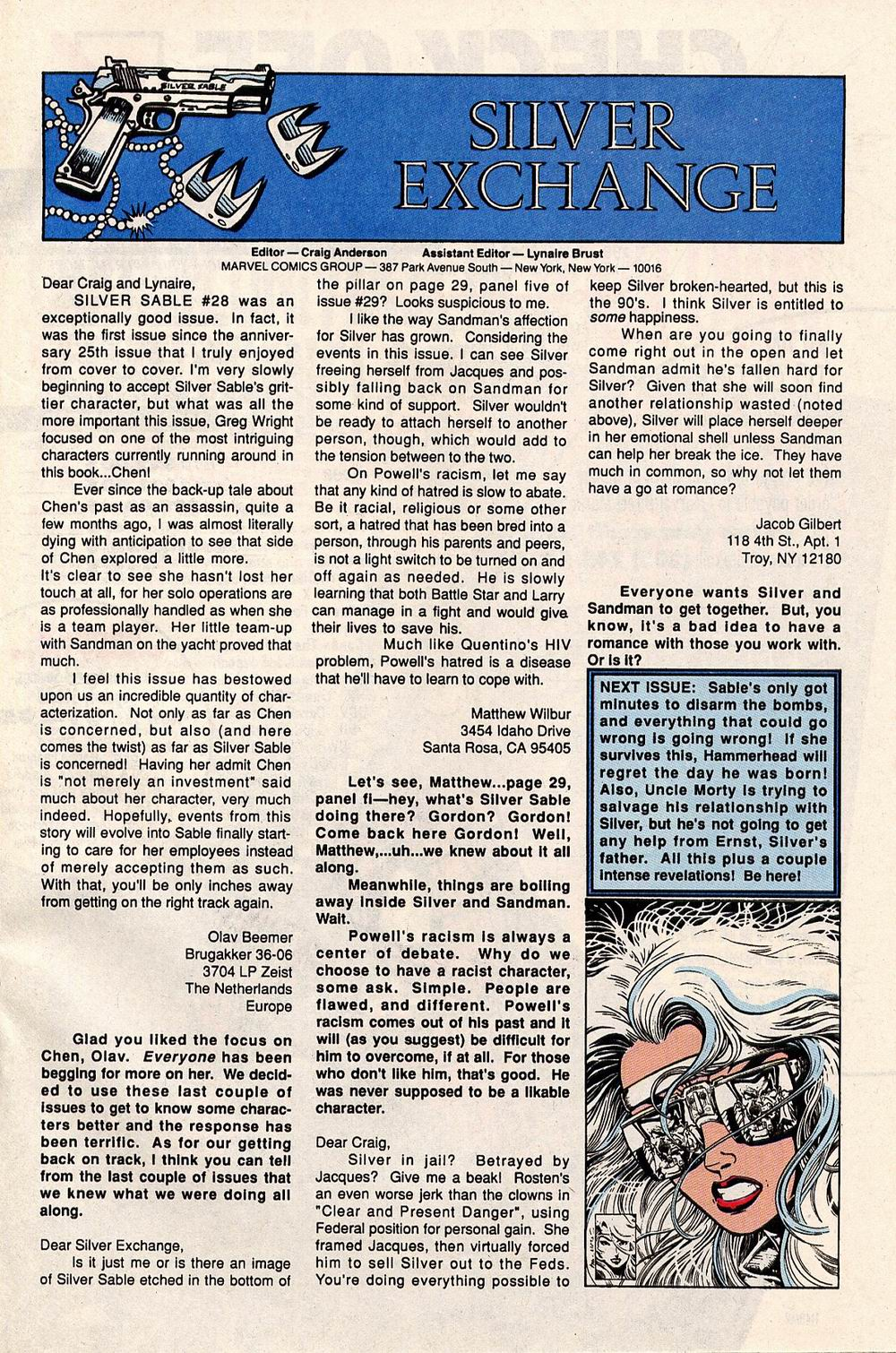 Read online Silver Sable and the Wild Pack comic -  Issue #32 - 24