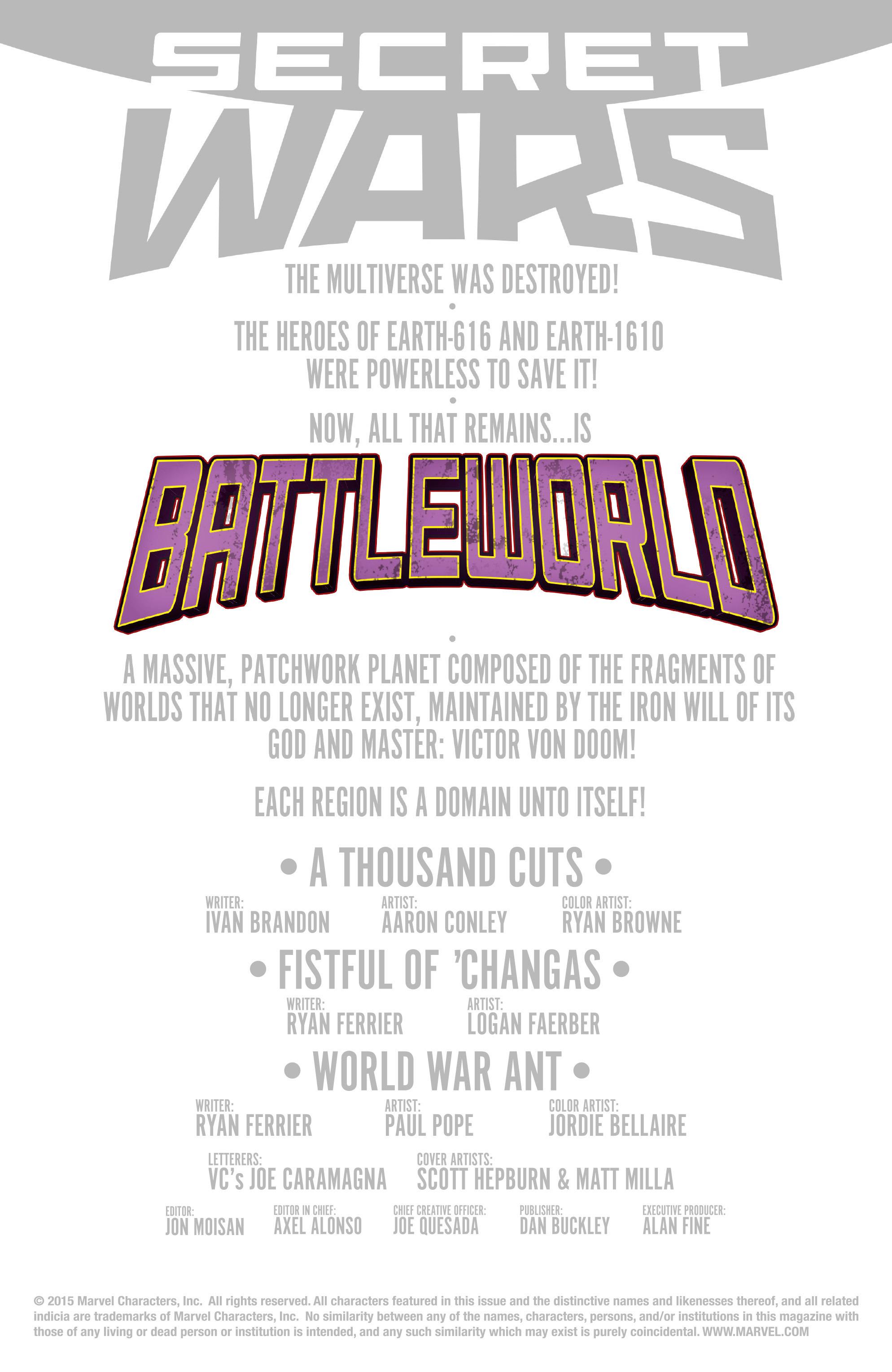 Read online Secret Wars Journal/Battleworld comic -  Issue # TPB - 167