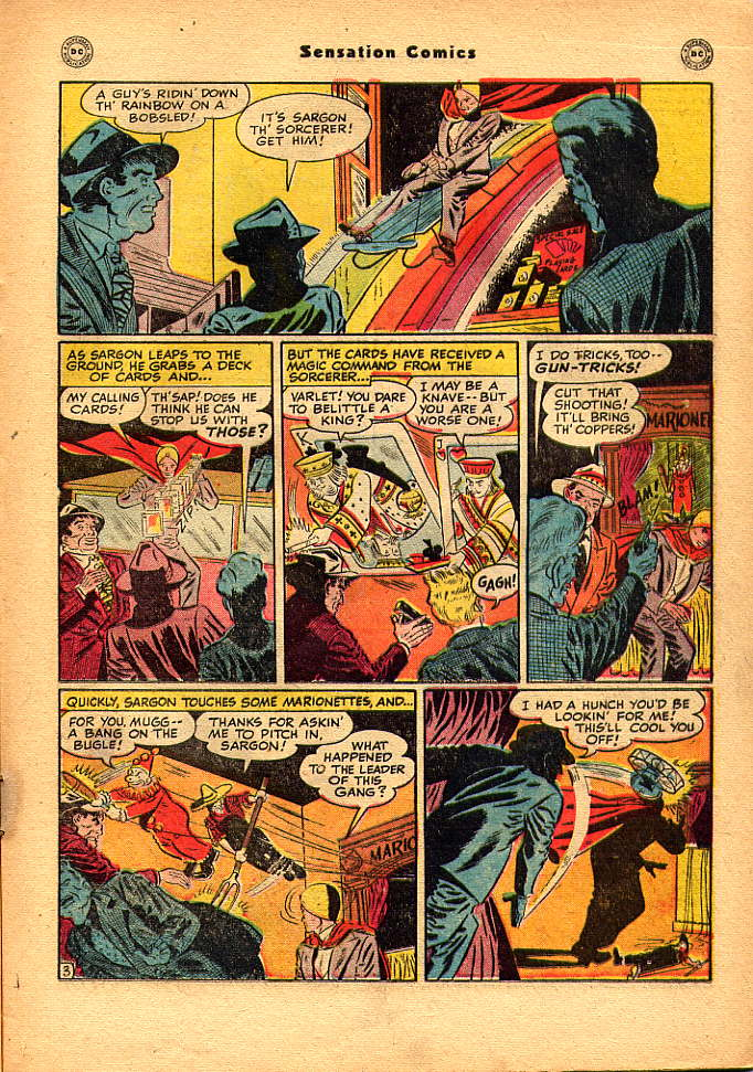 Read online Sensation (Mystery) Comics comic -  Issue #83 - 19
