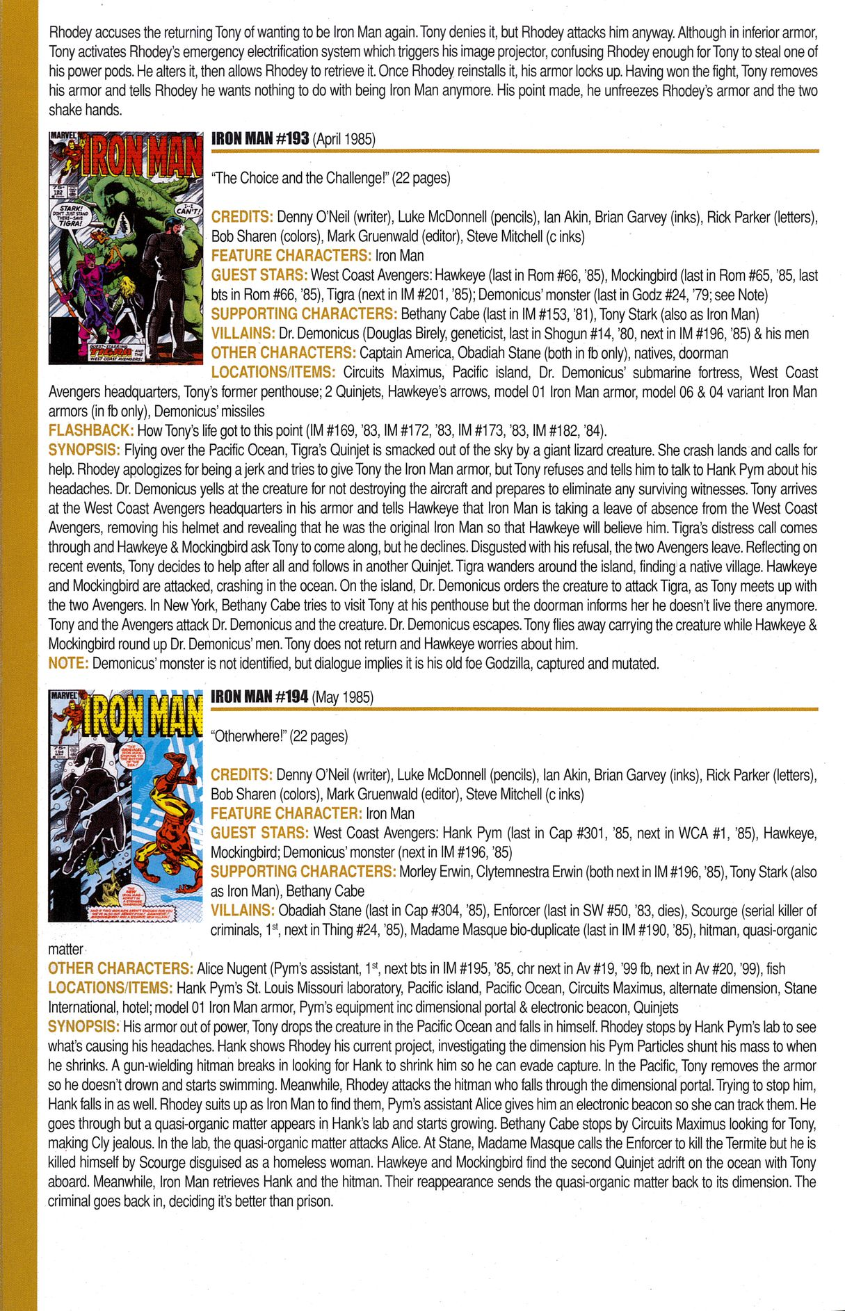 Read online Official Index to the Marvel Universe comic -  Issue #6 - 34