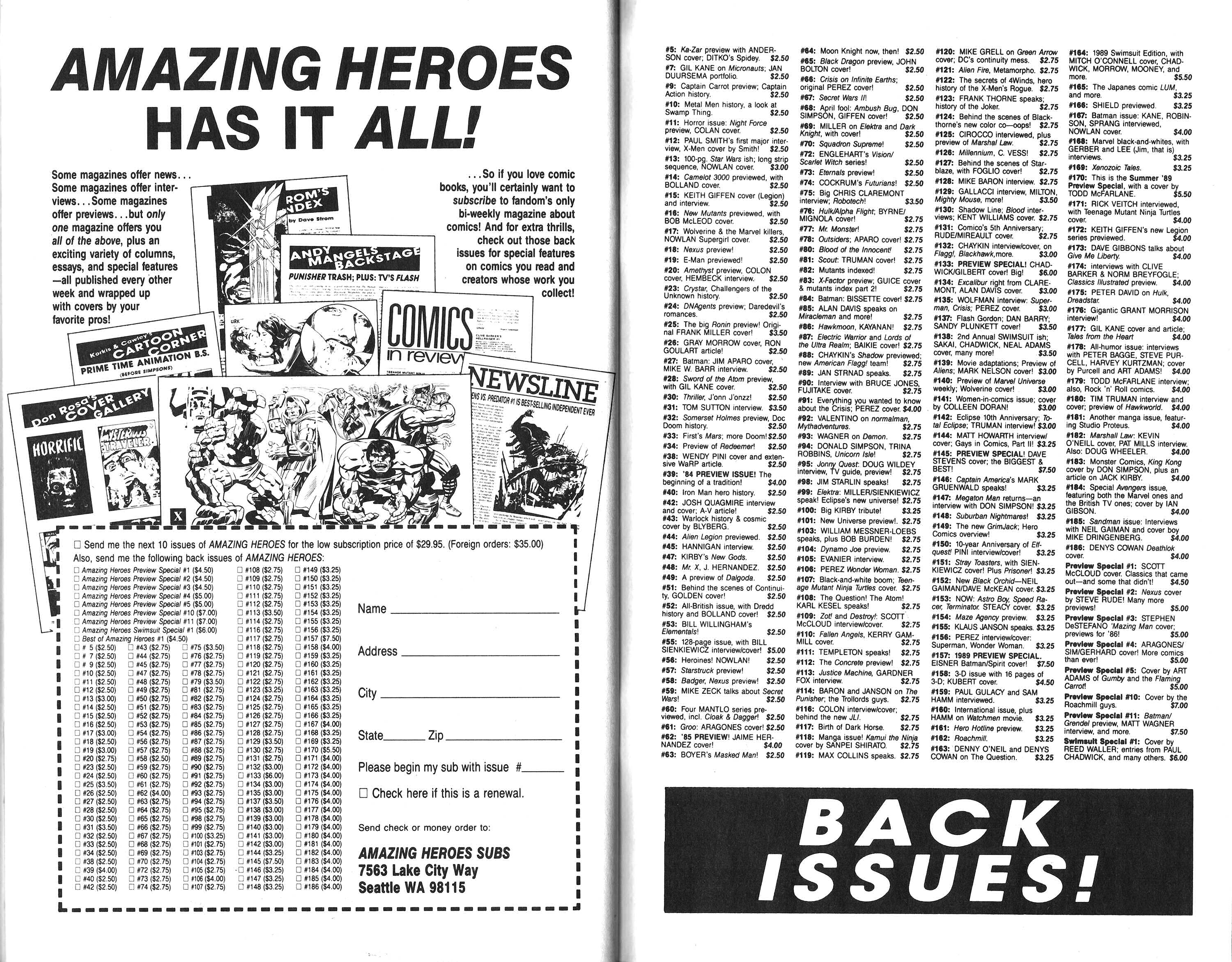 Read online Amazing Heroes comic -  Issue #187 - 46