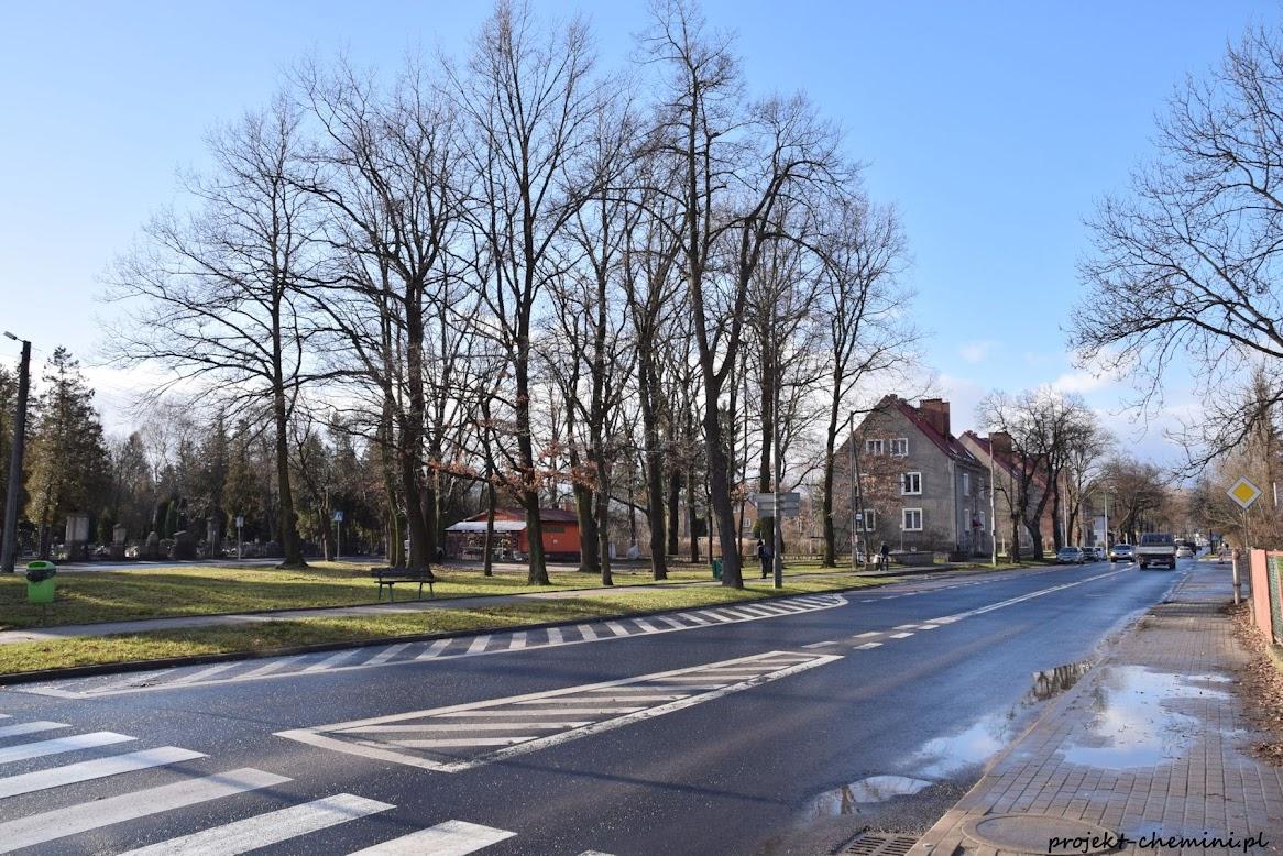Cieplice, widok na ulicę Dworcową