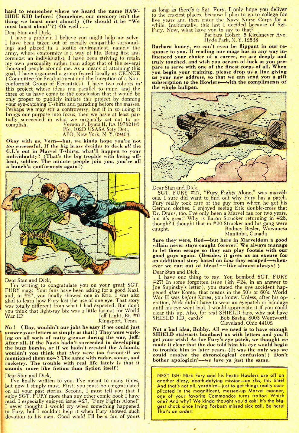 Read online Sgt. Fury comic -  Issue #31 - 33
