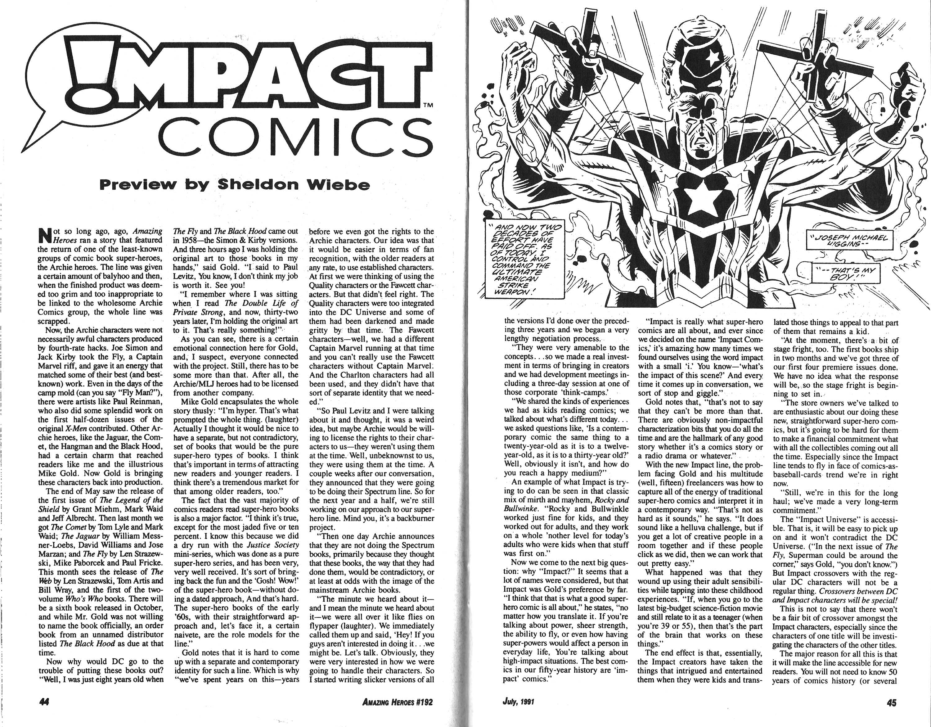 Read online Amazing Heroes comic -  Issue #192 - 23