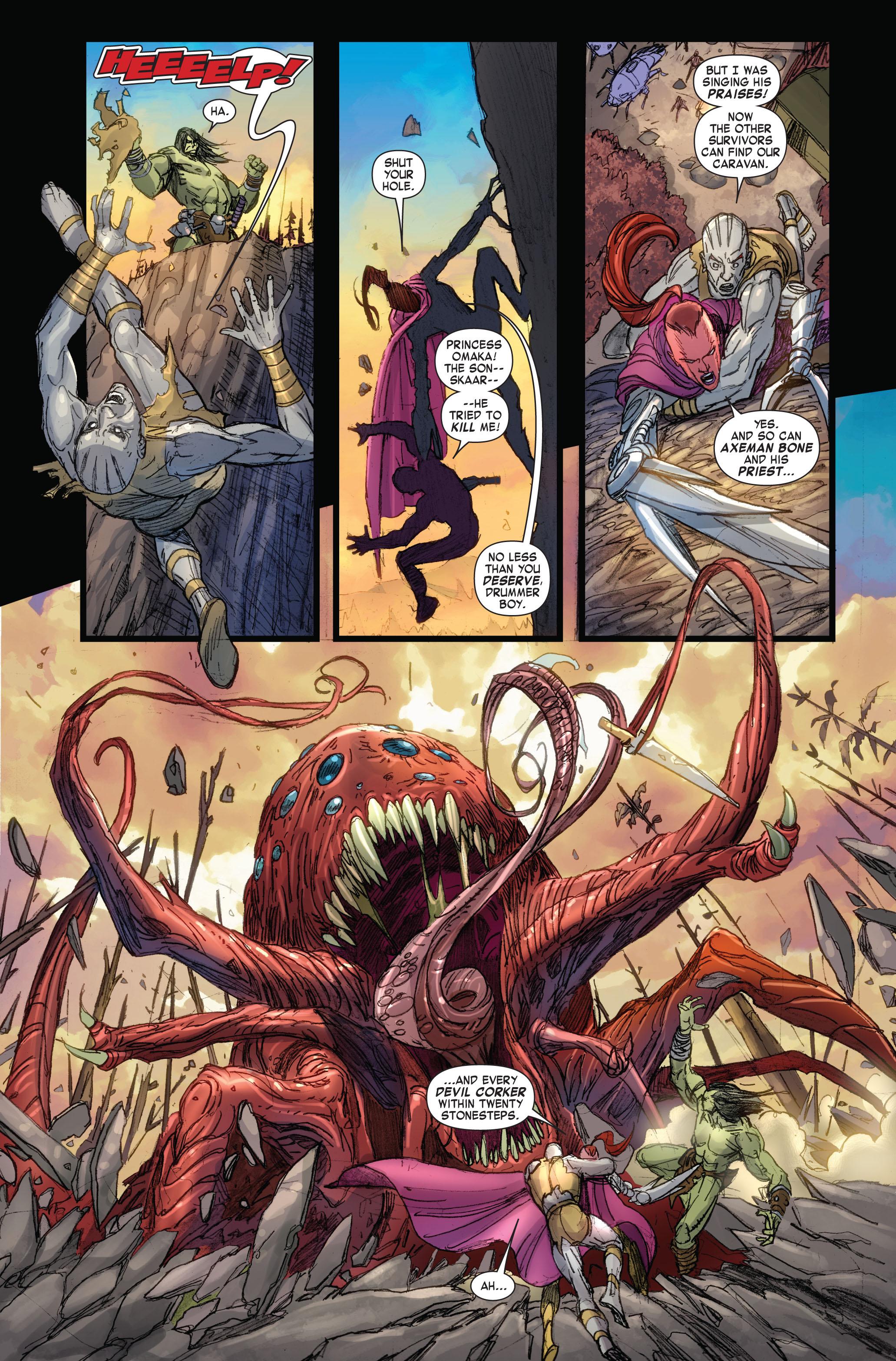 Read online Skaar: Son of Hulk comic -  Issue #4 - 5