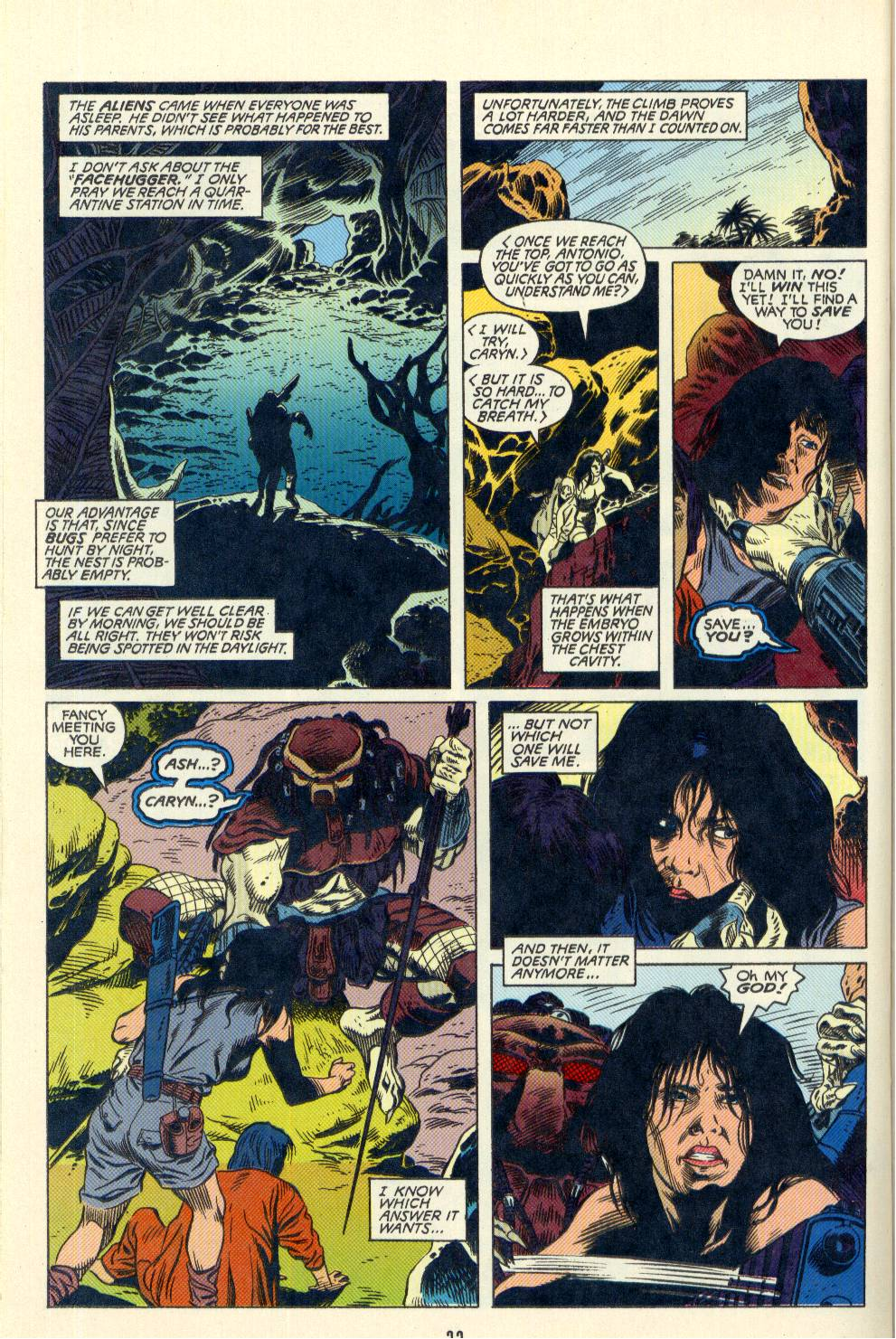 Read online Aliens/Predator: The Deadliest of the Species comic -  Issue #2 - 23