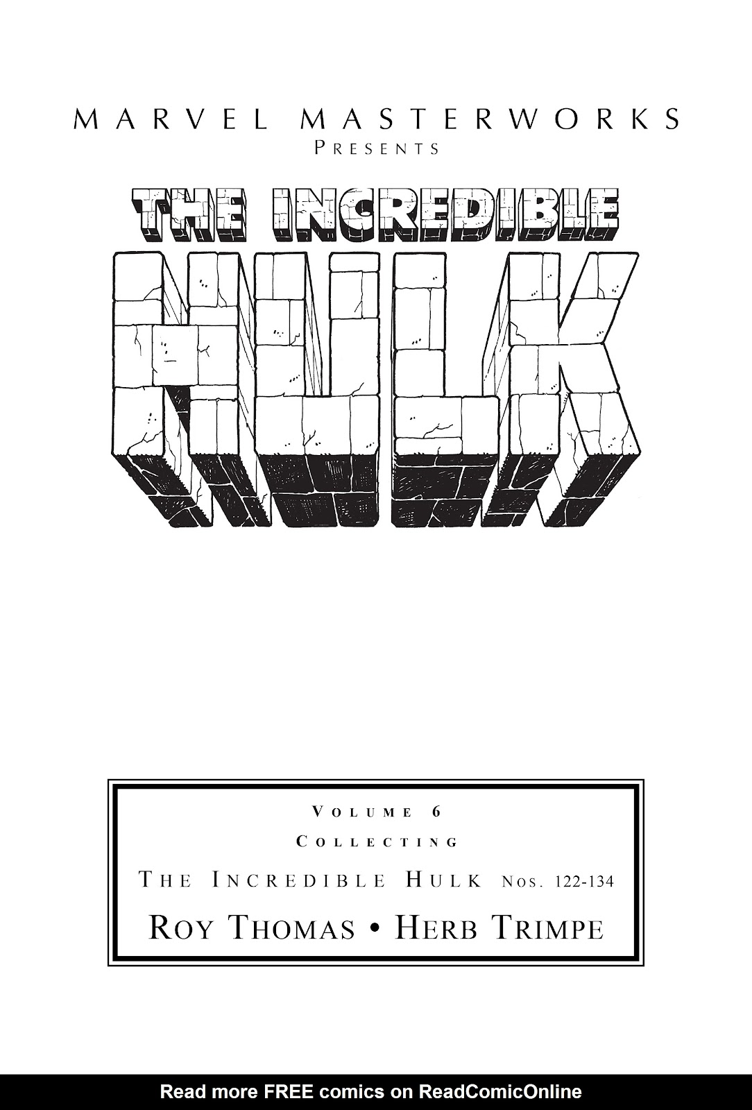 Read online Marvel Masterworks: The Incredible Hulk comic -  Issue # TPB 6 (Part 1) - 2