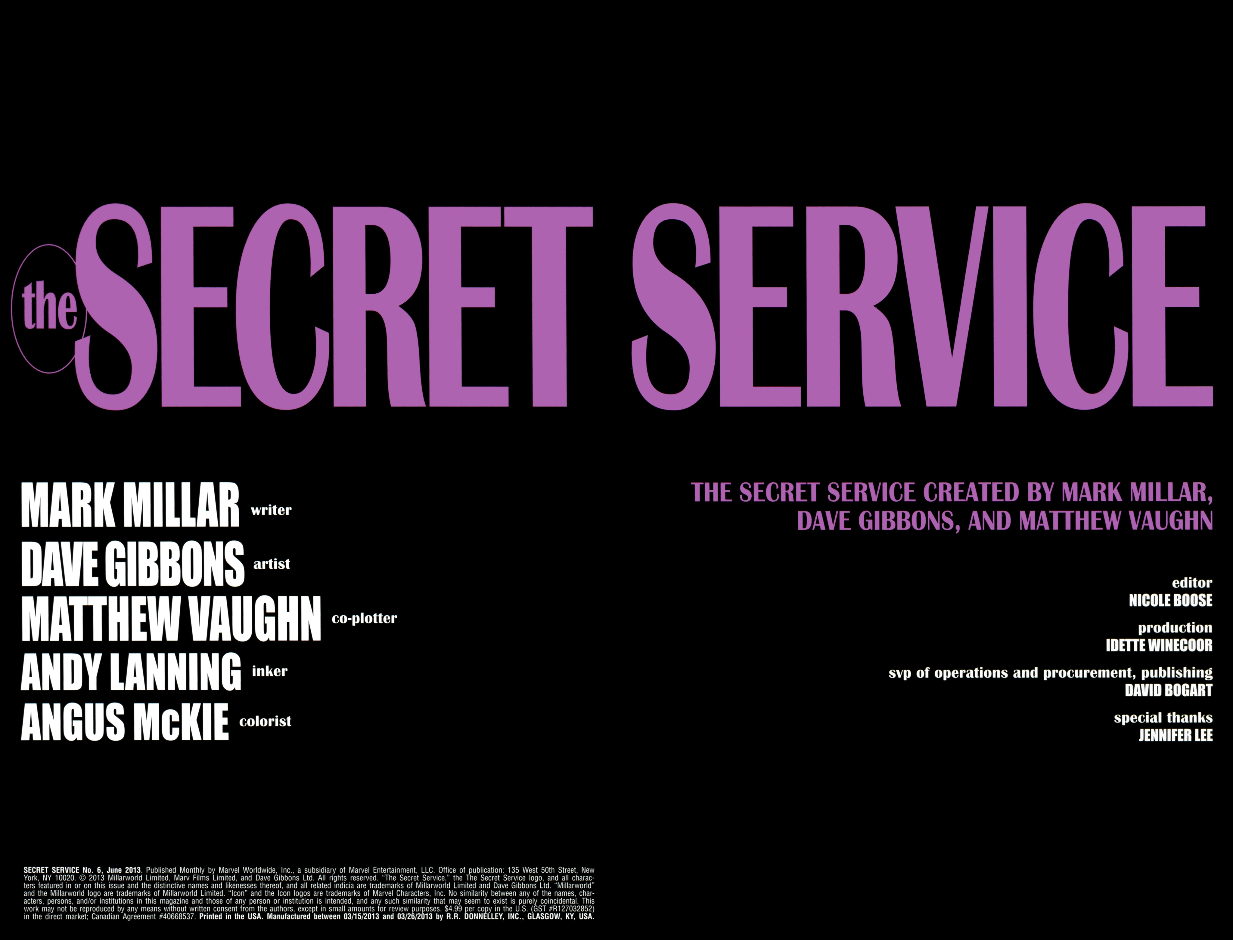 Read online Secret Service comic -  Issue #6 - 2
