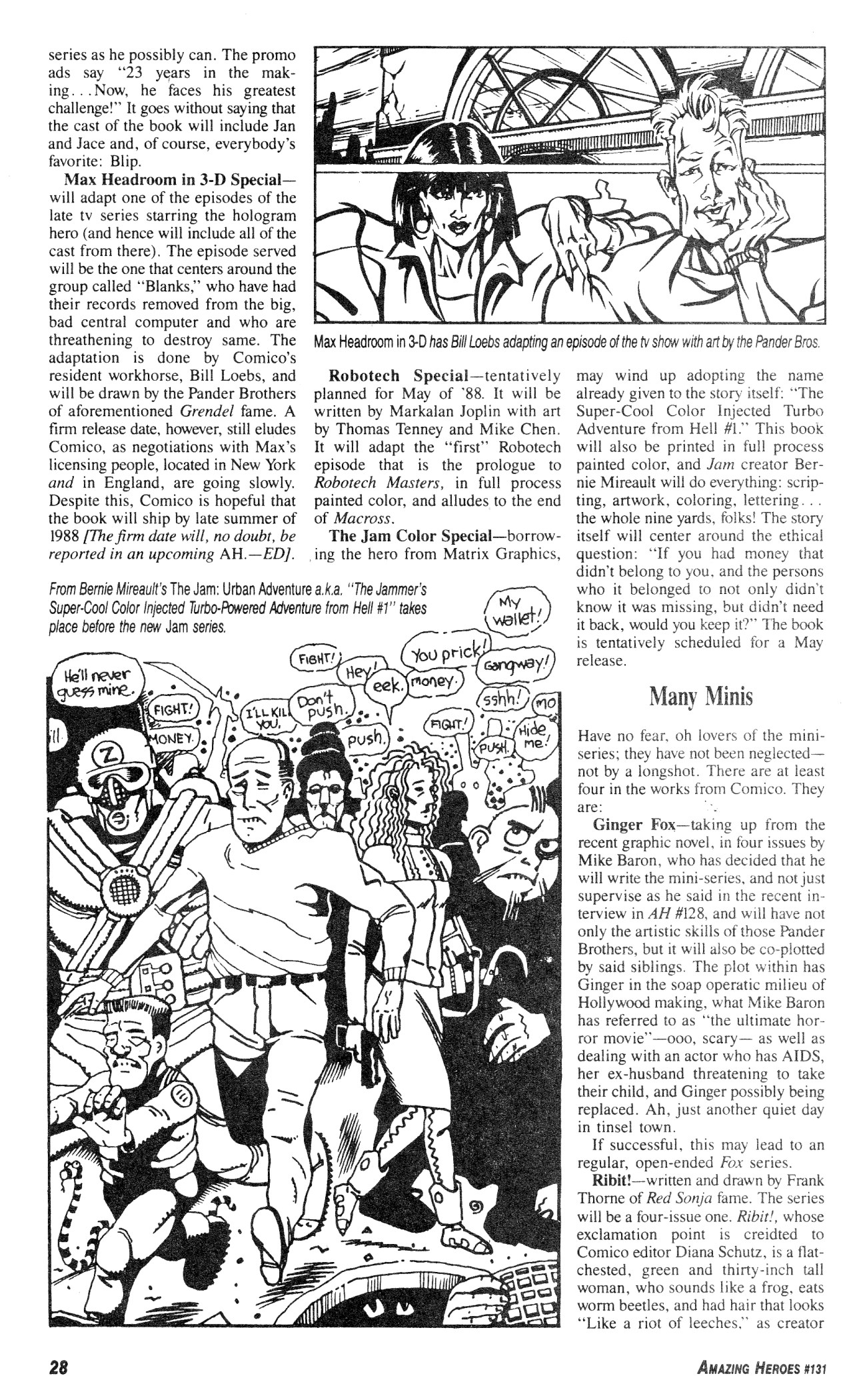Read online Amazing Heroes comic -  Issue #131 - 28