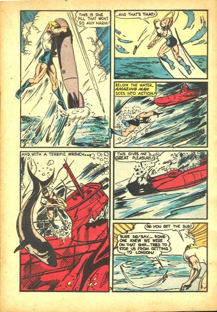 Read online Amazing Man Comics comic -  Issue #25 - 5