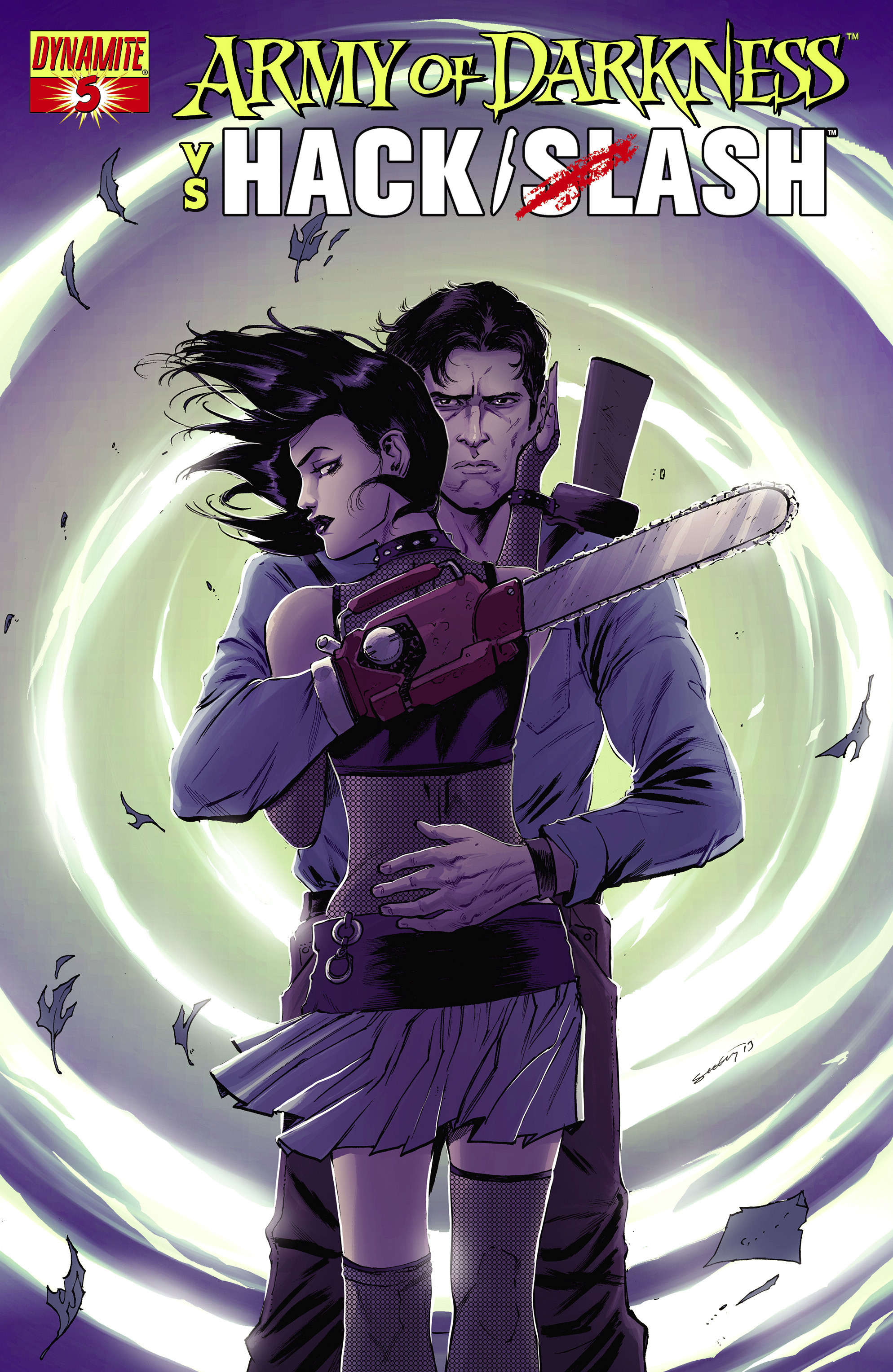 Read online Army of Darkness vs. Hack/Slash comic -  Issue #5 - 2