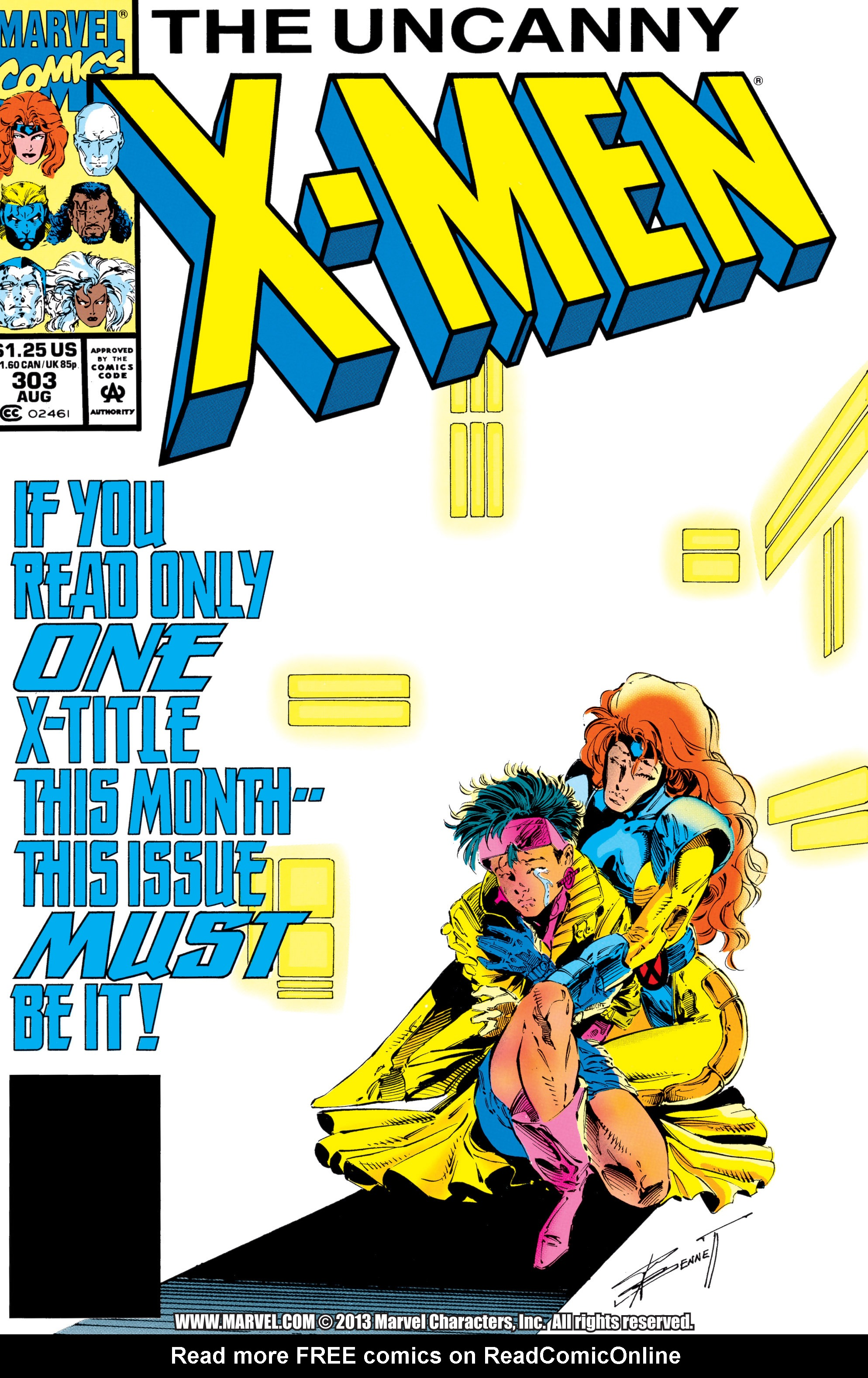 Read online Uncanny X-Men (1963) comic -  Issue #303 - 1