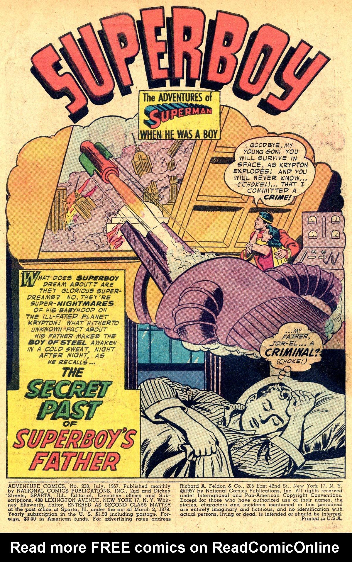 Read online Adventure Comics (1938) comic -  Issue #238 - 3