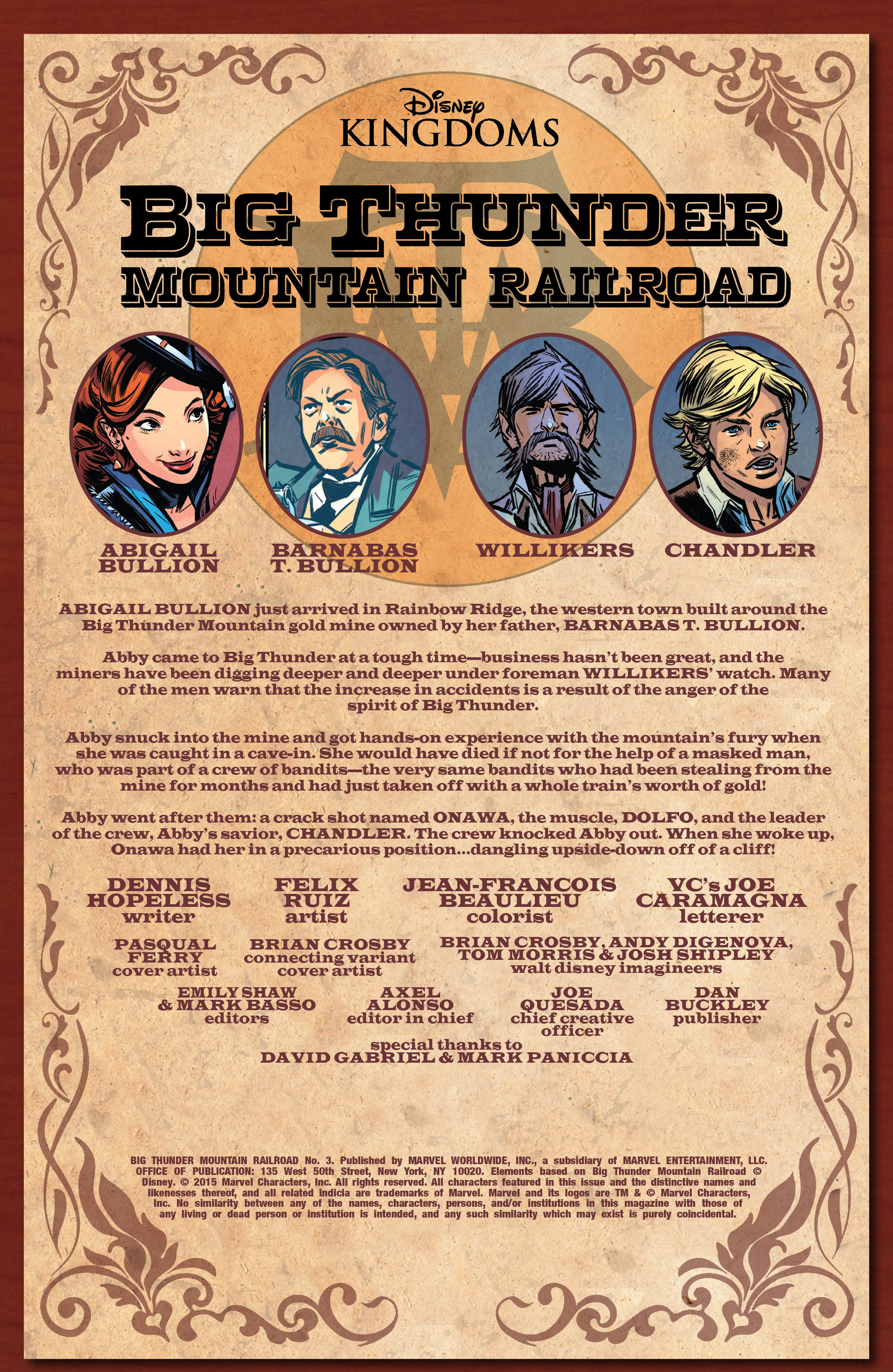 Read online Big Thunder Mountain Railroad comic -  Issue #3 - 2