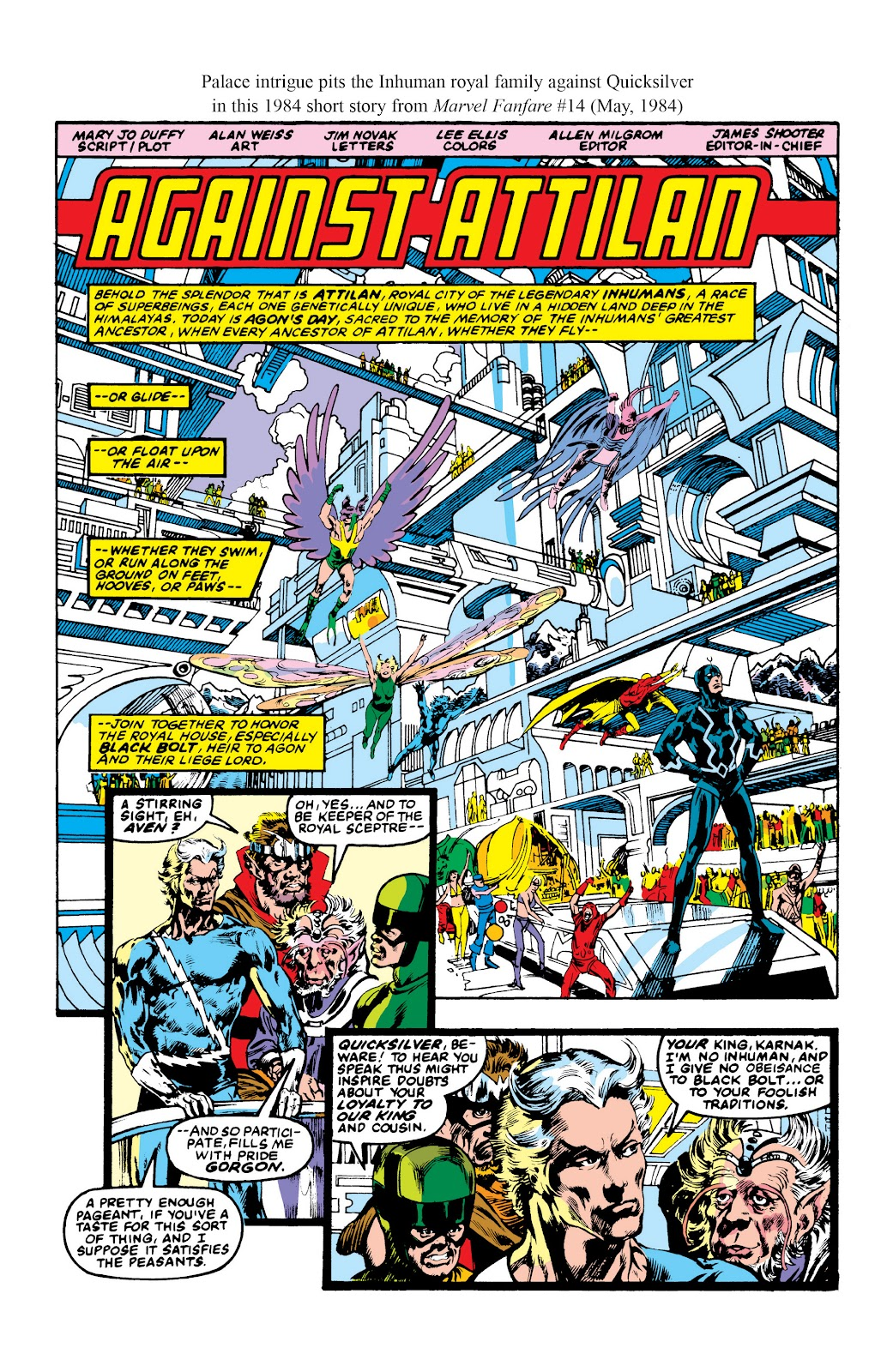 Read online Marvel Masterworks: The Inhumans comic -  Issue # TPB 2 (Part 3) - 104