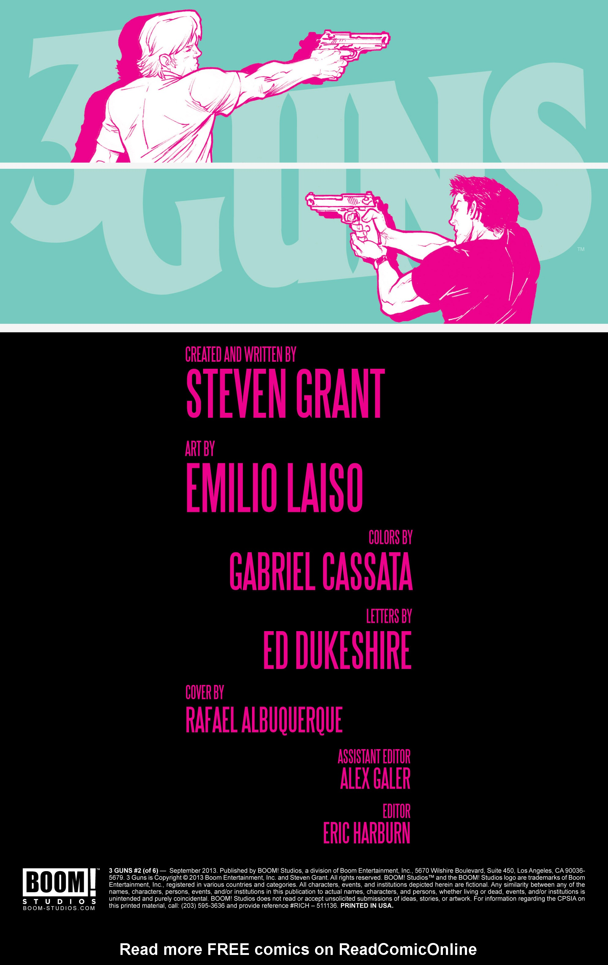 Read online 3 Guns comic -  Issue #2 - 2