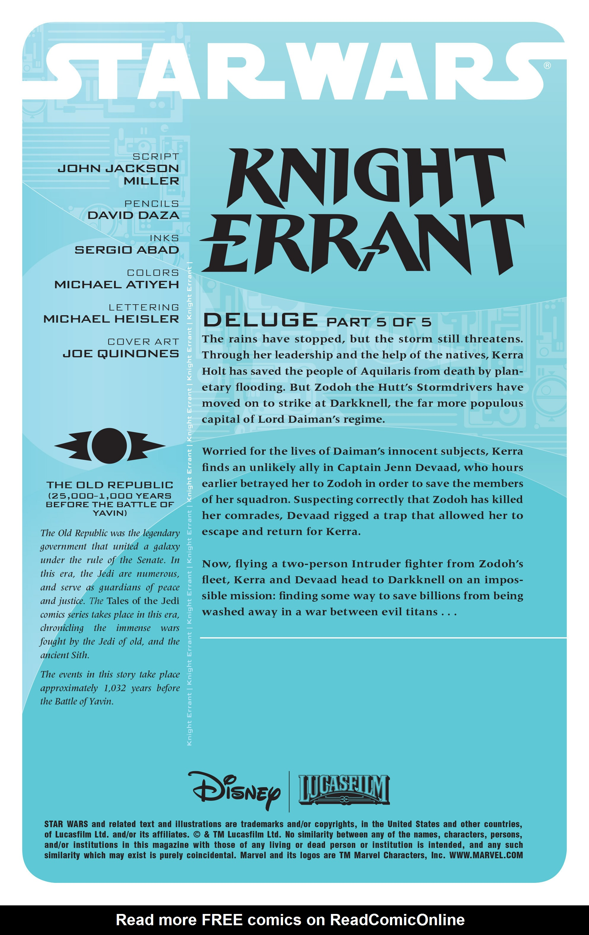 Read online Star Wars: Knight Errant - Deluge comic -  Issue #5 - 2
