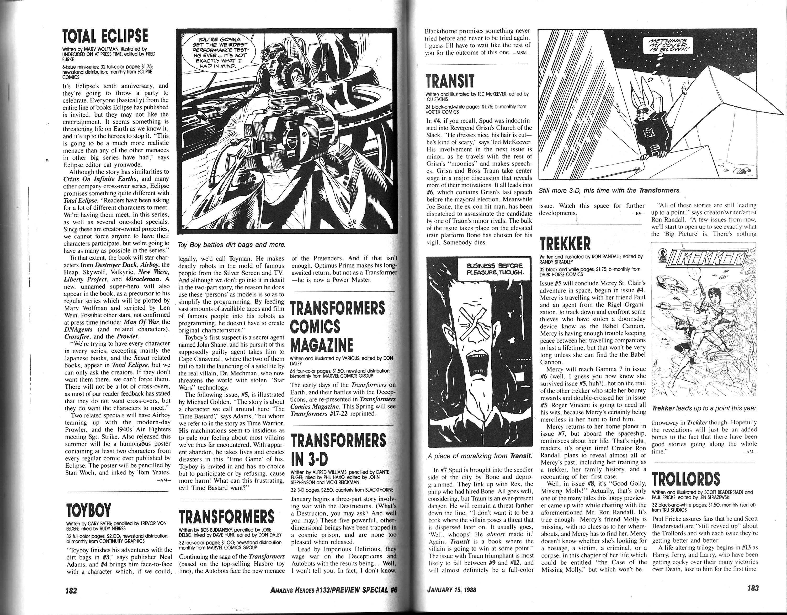 Read online Amazing Heroes comic -  Issue #133 - 93