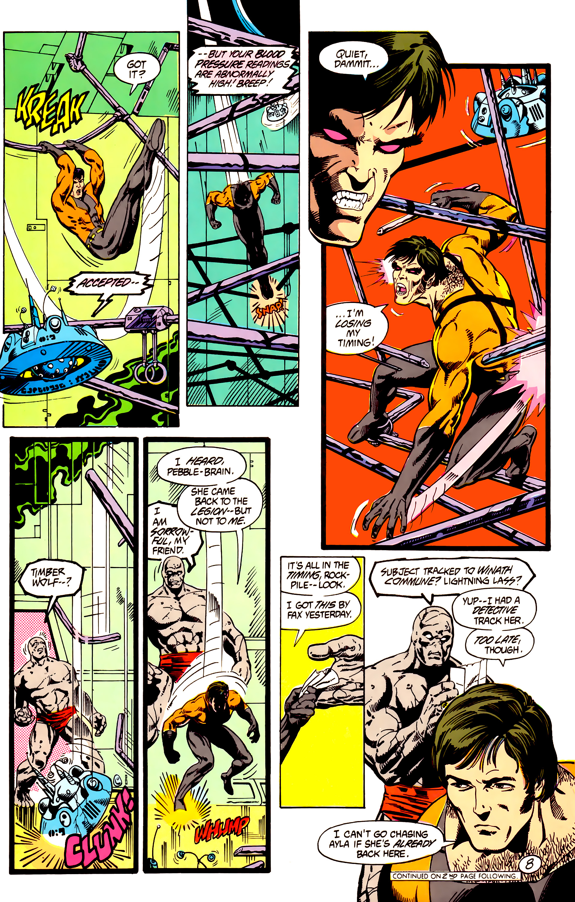 Legion of Super-Heroes (1984) 7 Page 9