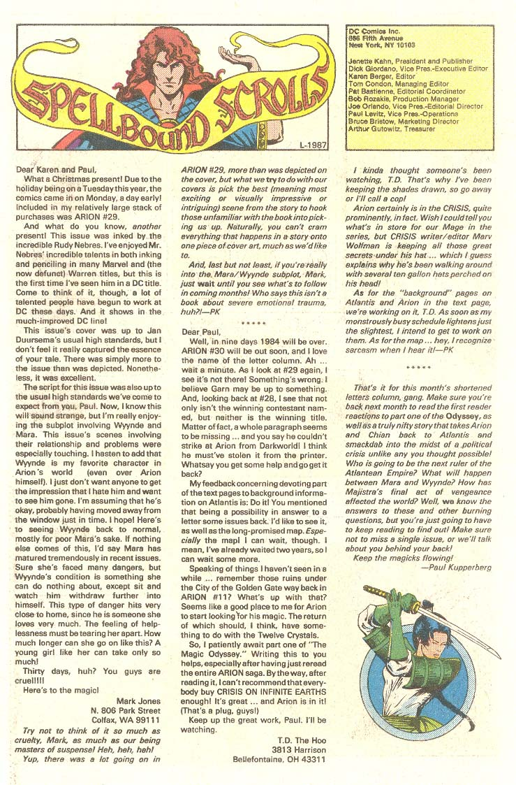 Read online Arion, Lord of Atlantis comic -  Issue #33 - 26