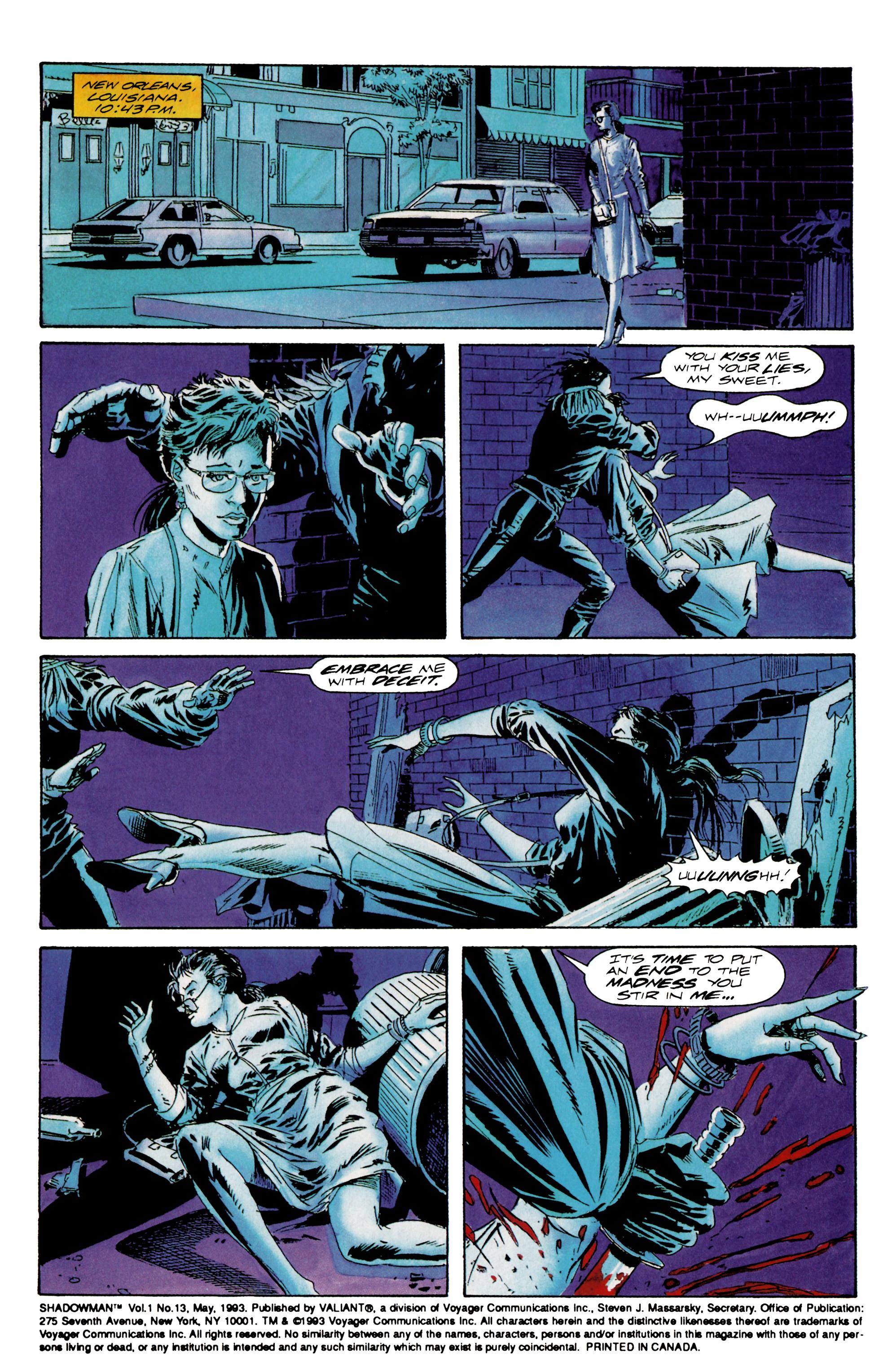 Read online Shadowman (1992) comic -  Issue #13 - 2