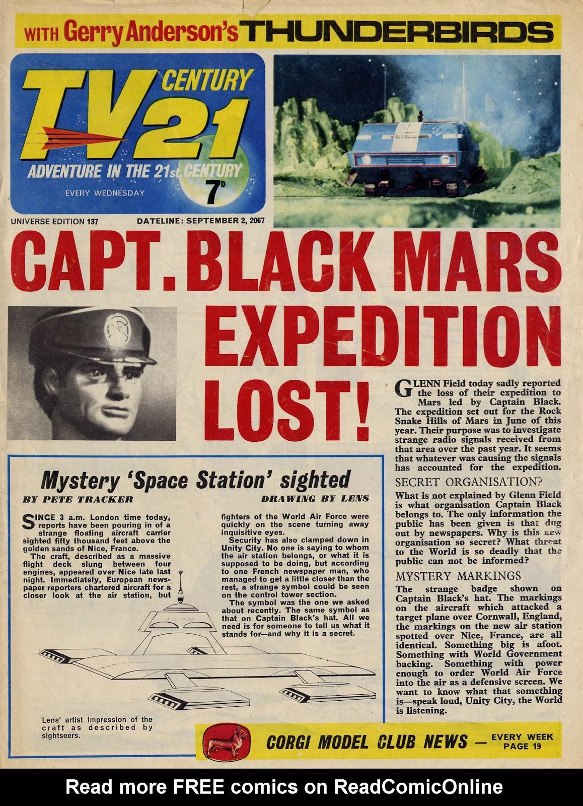 TV Century 21 (TV 21) issue 137 - Page 1