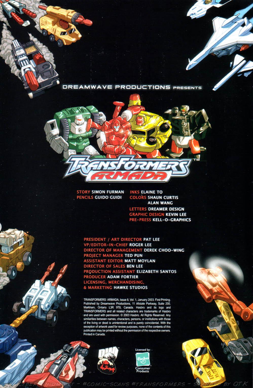 Read online Transformers Armada comic -  Issue #8 - 2