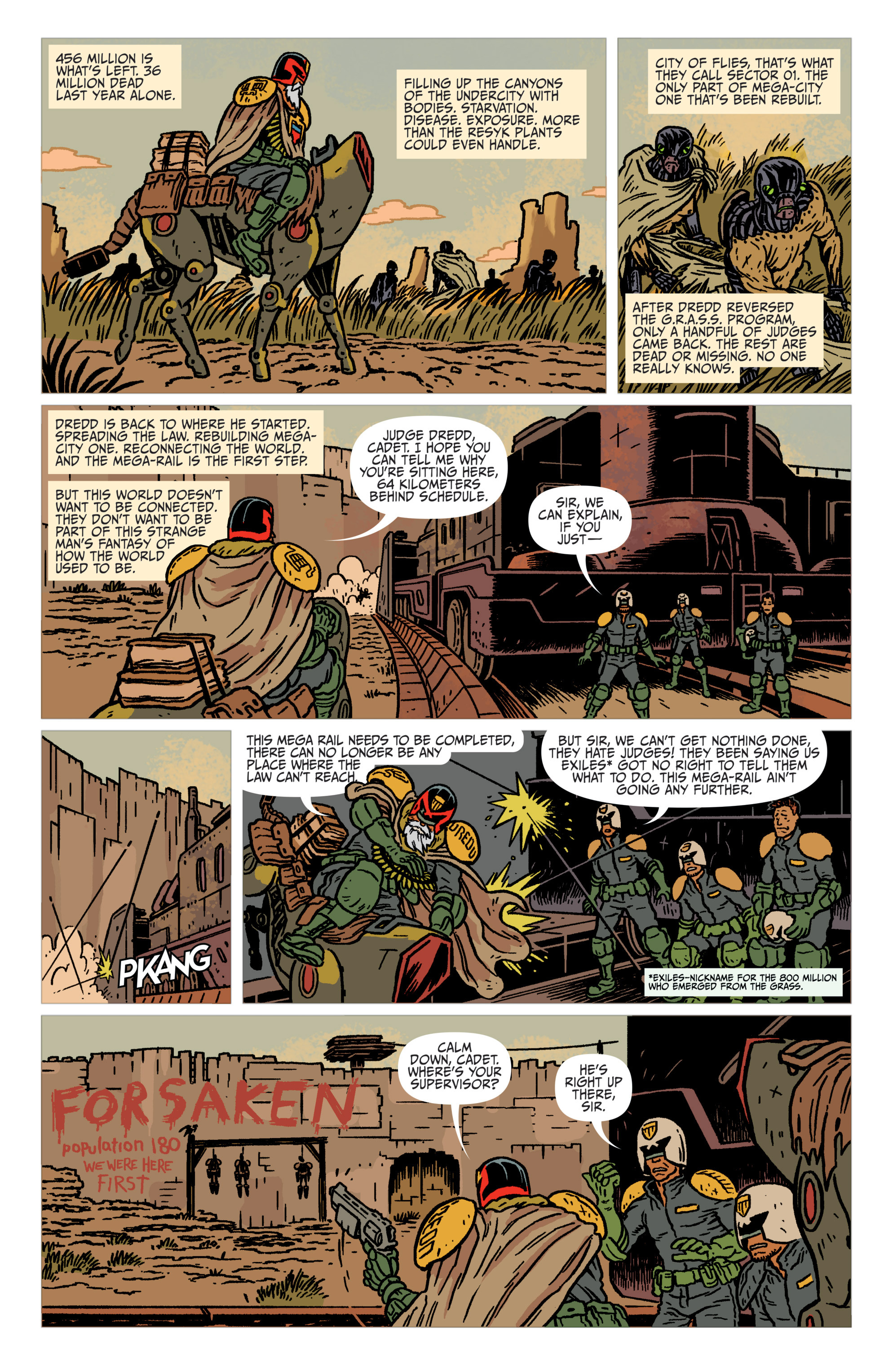 Read online Judge Dredd: The Blessed Earth comic -  Issue #1 - 6